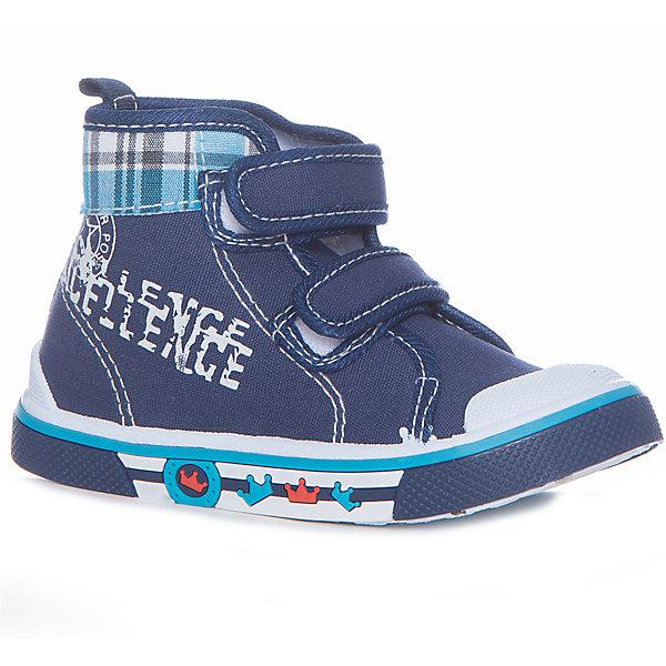 Кеды для мальчика MURSUОбувь<br>Характеристики товара:<br><br>• цвет: синий<br>• внешний материал: текстиль<br>• внутренний материал: текстиль<br>• подошва: резина<br>• сезон: лето<br>• застежка: липучка<br>• защита носка и пятки<br>• спортивный стиль<br>• застежка: шнурки, молния<br>• высокие<br>• защита носка и пятки<br>• декорированы принтом<br>• язычок для удобного надевания<br>• страна бренда: Финляндия<br><br>Модные легкие кеды помогут обеспечить ребенку комфорт и дополнить наряд. <br><br>Кеды удобно сидят на ноге и стильно смотрятся. Отличный вариант для теплой погоды!<br><br>Кеды от финского бренда MURSU (МУРСУ) можно купить в нашем интернет-магазине.<br><br>Ширина мм: 250<br>Глубина мм: 150<br>Высота мм: 150<br>Вес г: 250<br>Цвет: синий<br>Возраст от месяцев: 9<br>Возраст до месяцев: 12<br>Пол: Мужской<br>Возраст: Детский<br>Размер: 20,21,22,23,24,25<br>SKU: 5325653