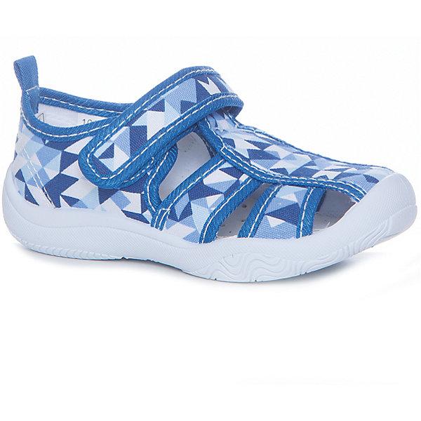 Сандалии для мальчика MURSUТекстильные туфли<br>Характеристики товара:<br><br>• цвет: синий<br>• внешний материал: текстиль<br>• внутренний материал: текстиль<br>• подошва: резина<br>• сезон: лето<br>• застежка: липучка<br>• без каблука<br>• декорированы принтом<br>• устойчивая подошва<br>• защита носка<br>• язычок для удобного надевания<br>• страна бренда: Финляндия<br><br>Малышам нужна особенная обувь - та, которая обеспечит удобство и правильное положение стопы. Эти сандали разработаны специально для детей. <br><br>Модные и легкие, они помогут обеспечить ребенку комфорт и дополнить наряд. Универсальный цвет позволяет обувать их под одежду и головные уборы различных расцветок. <br><br>Сандали удобно сидят на ноге и красиво смотрятся. Отличный вариант для теплой погоды!<br><br>Сандали от финского бренда MURSU (МУРСУ) можно купить в нашем интернет-магазине.<br><br>Ширина мм: 227<br>Глубина мм: 145<br>Высота мм: 124<br>Вес г: 325<br>Цвет: голубой<br>Возраст от месяцев: 9<br>Возраст до месяцев: 12<br>Пол: Мужской<br>Возраст: Детский<br>Размер: 20,25,24,23,22,21<br>SKU: 5325723