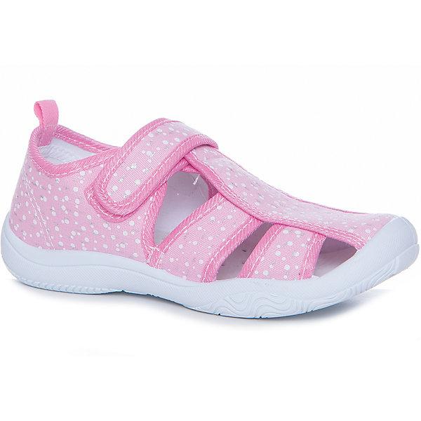 Сандалии для девочки MURSUТекстильные туфли<br>Характеристики товара:<br><br>• цвет: розовый<br>• внешний материал: текстиль<br>• внутренний материал: текстиль<br>• подошва: резина<br>• сезон: лето<br>• застежка: липучка<br>• без каблука<br>• декорированы принтом<br>• устойчивая подошва<br>• защита носка<br>• язычок для удобного надевания<br>• страна бренда: Финляндия<br><br>Малышам нужна особенная обувь - та, которая обеспечит удобство и правильное положение стопы. Эти сандали разработаны специально для детей. <br><br>Модные и легкие, они помогут обеспечить ребенку комфорт и дополнить наряд. Универсальный цвет позволяет обувать их под одежду и головные уборы различных расцветок. <br><br>Сандали удобно сидят на ноге и красиво смотрятся. Отличный вариант для теплой погоды!<br><br>Сандали от финского бренда MURSU (МУРСУ) можно купить в нашем интернет-магазине.<br><br>Ширина мм: 227<br>Глубина мм: 145<br>Высота мм: 124<br>Вес г: 325<br>Цвет: розовый<br>Возраст от месяцев: 84<br>Возраст до месяцев: 96<br>Пол: Женский<br>Возраст: Детский<br>Размер: 31,32,30,29,28,27<br>SKU: 5325758