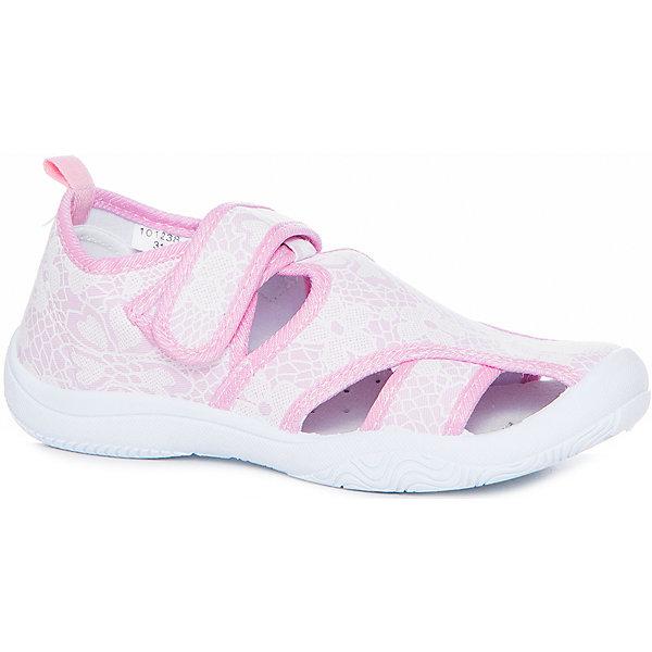 Сандалии для девочки MURSUТекстильные туфли<br>Характеристики товара:<br><br>• цвет: розовый<br>• внешний материал: текстиль<br>• внутренний материал: текстиль<br>• подошва: резина<br>• сезон: лето<br>• застежка: липучка<br>• без каблука<br>• декорированы принтом<br>• устойчивая подошва<br>• защита носка<br>• язычок для удобного надевания<br>• страна бренда: Финляндия<br><br>Малышам нужна особенная обувь - та, которая обеспечит удобство и правильное положение стопы. Эти сандали разработаны специально для детей. <br><br>Модные и легкие, они помогут обеспечить ребенку комфорт и дополнить наряд. Универсальный цвет позволяет обувать их под одежду и головные уборы различных расцветок. <br><br>Сандали удобно сидят на ноге и красиво смотрятся. Отличный вариант для теплой погоды!<br><br>Сандали от финского бренда MURSU (МУРСУ) можно купить в нашем интернет-магазине.<br><br>Ширина мм: 227<br>Глубина мм: 145<br>Высота мм: 124<br>Вес г: 325<br>Цвет: розовый<br>Возраст от месяцев: 84<br>Возраст до месяцев: 96<br>Пол: Женский<br>Возраст: Детский<br>Размер: 31,32,30,29,28,27<br>SKU: 5325765