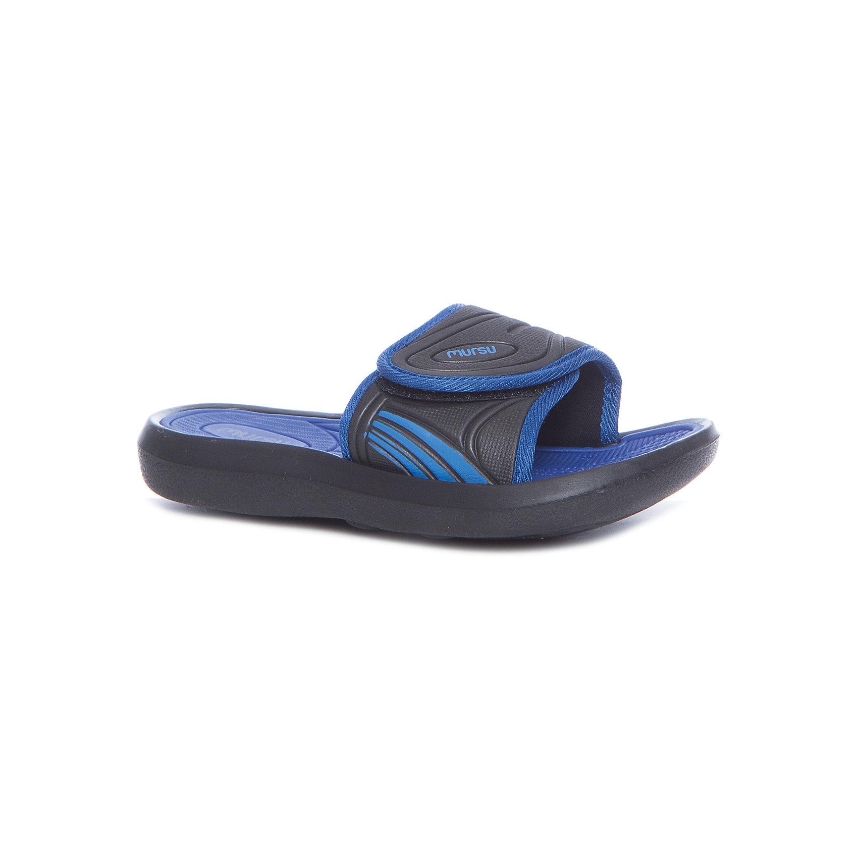 Пляжная обувь для мальчика MURSUХарактеристики товара:<br><br>• цвет: синий/чёрный<br>• внешний материал: ЭВА<br>• внутренний материал: ЭВА<br>• стелька: ЭВА<br>• подошва: ЭВА<br>• облегчённая модель<br>• подходит для пляжа <br>• подходит для занятий в бассейне<br>• отверстия для вентиляции<br>• устойчивая подошва<br>• страна бренда: Финляндия<br>• страна изготовитель: Китай<br><br>Детям для правильного развития стопы и всего организма необходима качественная обувь. Эта удобная пляжная обувь поможет создать ногам ребенка комфортные условия, благодаря продуманной конструкции она отлично сидит на ноге. Это отличный вариант правильной и красивой детской обуви!<br><br>Шлёпанцы от финского бренда MURSU (МУРСУ) можно купить в нашем интернет-магазине.<br><br>Ширина мм: 248<br>Глубина мм: 135<br>Высота мм: 147<br>Вес г: 256<br>Цвет: разноцветный<br>Возраст от месяцев: 72<br>Возраст до месяцев: 84<br>Пол: Мужской<br>Возраст: Детский<br>Размер: 30,31,32,33,34,35<br>SKU: 5326176