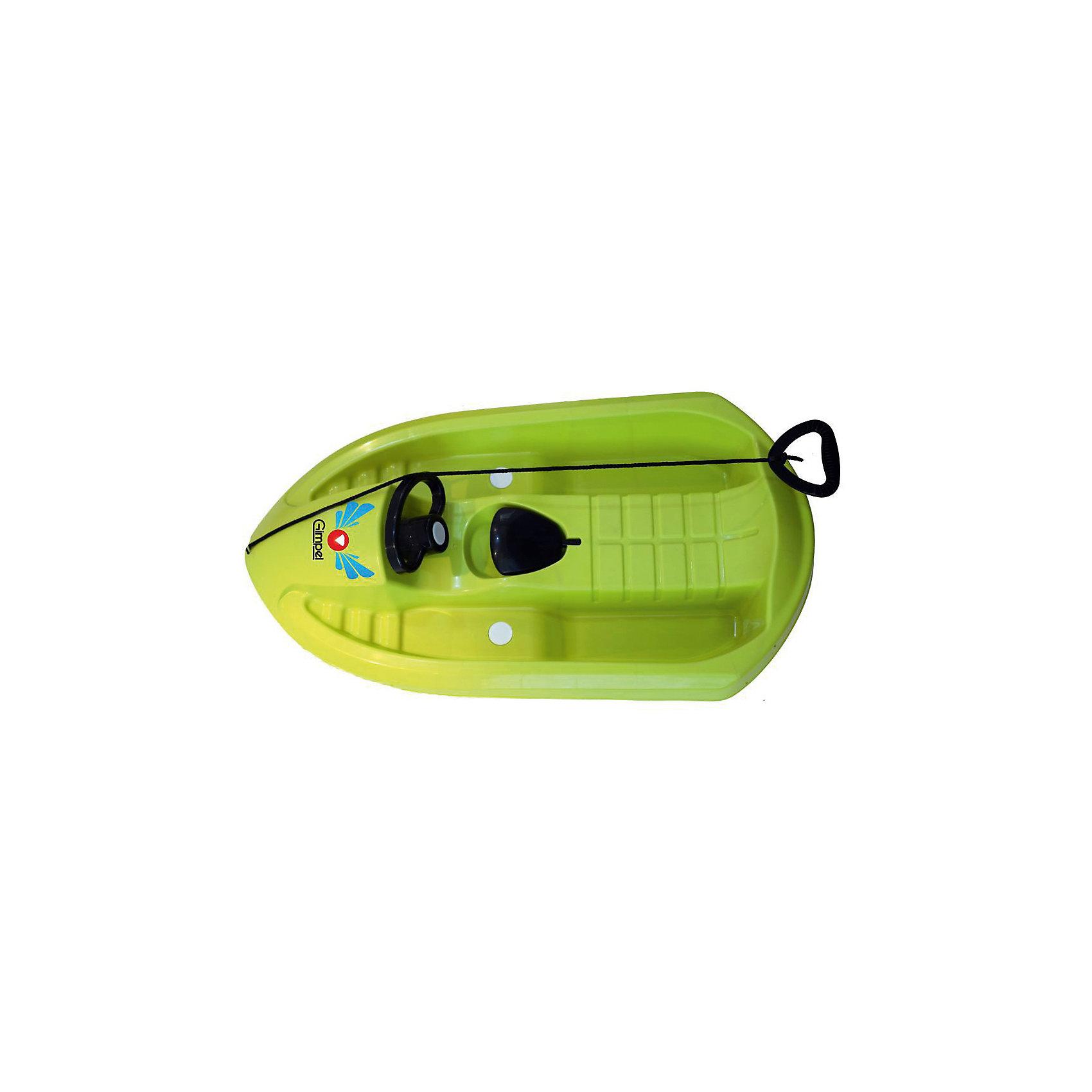 Санки Gimpel, зеленый, HubsterСанки и снегокаты<br>Санки Gimpel, зеленый, Hubster.<br><br>Характеристики:<br><br>- Максимальный вес: 55 кг.<br>- Материал: морозостойкий HDPE пластик<br>- Цвет: зеленый<br>- Длина: 95 см.<br>- Вес: 2,5 кг.<br><br>Управляемые санки Gimpel Hubster стилизованы под снежный катер. Санки выполнены из высококачественного пластика повышенной износостойкости, обладающего ударопрочностью и морозостойкостью. Аэродинамическая форма позволяет развивать большую скорость, при этом, сохраняя устойчивость. Поворотный руль и скрытые лыжи обеспечивают прекрасную маневренность. Кроме того, санки оснащены ручным тормозом и буксировочным тросом с удобной ручкой. Такие санки станут прекрасным подарком Вашему ребенку и позволят насладиться каждой зимней прогулкой.<br><br>Санки Gimpel, зеленые, Hubster можно купить в нашем интернет-магазине.<br><br>Ширина мм: 950<br>Глубина мм: 500<br>Высота мм: 220<br>Вес г: 3300<br>Возраст от месяцев: 36<br>Возраст до месяцев: 144<br>Пол: Унисекс<br>Возраст: Детский<br>SKU: 5329966
