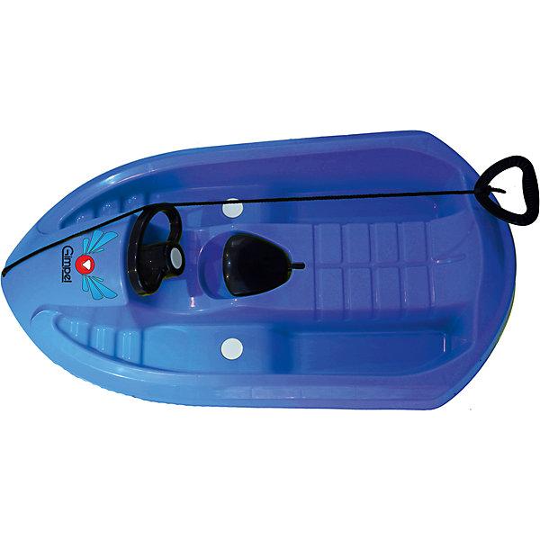 Санки, синий, GimpelСанки и снегокаты<br>Санки, синий, Gimpel.<br><br>Характеристики:<br><br>- Максимальный вес: 55 кг.<br>- Материал: морозостойкий HDPE пластик<br>- Цвет: синий<br>- Длина: 95 см.<br>- Вес: 2,5 кг.<br><br>Управляемые санки Gimpel стилизованы под снежный катер. Санки выполнены из высококачественного пластика повышенной износостойкости, обладающего ударопрочностью и морозостойкостью. Аэродинамическая форма позволяет развивать большую скорость, при этом, сохраняя устойчивость. Поворотный руль и скрытые лыжи обеспечивают прекрасную маневренность. Кроме того, санки оснащены ручным тормозом и буксировочным тросом с удобной ручкой. Такие санки станут прекрасным подарком Вашему ребенку и позволят насладиться каждой зимней прогулкой.<br><br>Санки, синие, Gimpel можно купить в нашем интернет-магазине.<br><br>Ширина мм: 950<br>Глубина мм: 500<br>Высота мм: 220<br>Вес г: 3300<br>Возраст от месяцев: 36<br>Возраст до месяцев: 144<br>Пол: Унисекс<br>Возраст: Детский<br>SKU: 5329967
