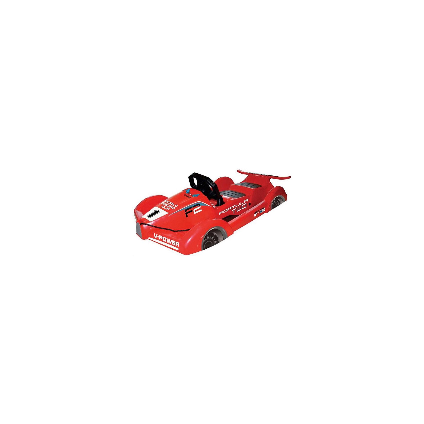 Санки Formula, красный, GimpelСанки и снегокаты<br>Санки Formula, красный, Gimpel (Гимпель).<br><br>Характеристики:<br><br>- Максимальный вес: 90 кг.<br>- Материал: морозостойкий HDPE пластик<br>- Цвет: красный<br>- Длина: 120 см.<br>- Вес: 5,2 кг.<br><br>Двухместные управляемые санки Formula Gimpel (Гимпель) стилизованы под гоночный болид. Яркий и стильный дизайн, спойлер и имитация колес позволят ребенку почувствовать себя настоящим пилотом на снежной трассе. Руль, управляющий скрытыми лыжами, и ручной тормоз обеспечивают манёвренность и контроль движения. Также санки оснащены буксировочным тросом с удобной ручкой. Сиденья выполнены из пластика с антискользящим покрытием. Ударопрочный корпус, изготовленный из морозоустойчивого пластика, обладает повышенной износостойкостью. Явным преимуществом санок является то, что они рассчитаны на 2 детей.<br><br>Санки Formula, красные, Gimpel (Гимпель) можно купить в нашем интернет-магазине.<br><br>Ширина мм: 1200<br>Глубина мм: 520<br>Высота мм: 330<br>Вес г: 5200<br>Возраст от месяцев: 36<br>Возраст до месяцев: 144<br>Пол: Мужской<br>Возраст: Детский<br>SKU: 5329968