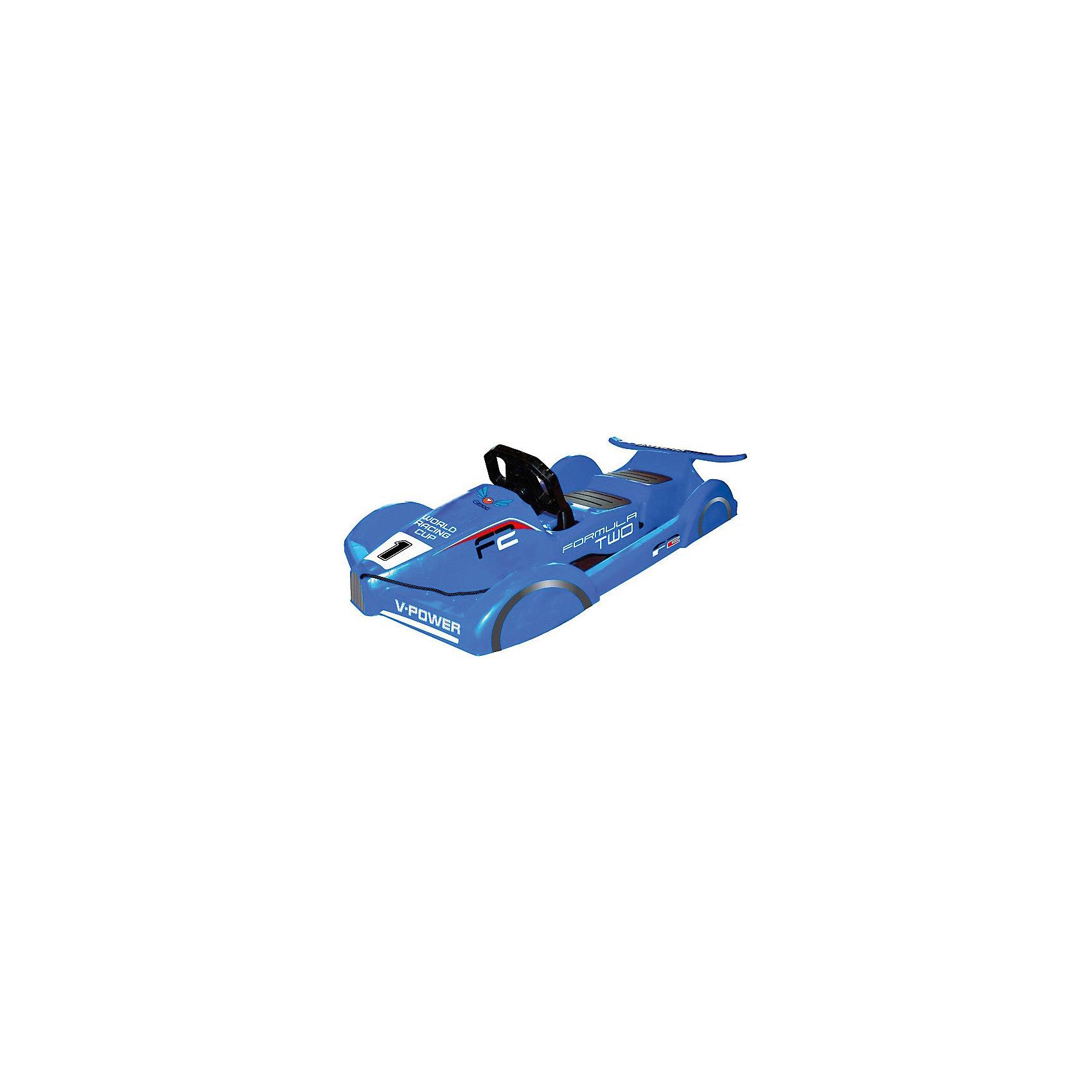 Санки Formula, синий, GimpelСанки и снегокаты<br>Санки Formula, синий, Gimpel (Гимпель).<br><br>Характеристики:<br><br>- Максимальный вес: 90 кг.<br>- Материал: морозостойкий HDPE пластик<br>- Цвет: синий<br>- Длина: 120 см.<br>- Вес: 5,2 кг.<br><br>Двухместные управляемые санки Formula Gimpel (Гимпель) стилизованы под гоночный болид. Яркий и стильный дизайн, спойлер и имитация колес позволят ребенку почувствовать себя настоящим пилотом на снежной трассе. Руль, управляющий скрытыми лыжами, и ручной тормоз обеспечивают манёвренность и контроль движения. Также санки оснащены буксировочным тросом с удобной ручкой. Сиденья выполнены из пластика с антискользящим покрытием. Ударопрочный корпус, изготовленный из морозоустойчивого пластика, обладает повышенной износостойкостью. Явным преимуществом санок является то, что они рассчитаны на 2 детей.<br><br>Санки Formula, синие, Gimpel (Гимпель) можно купить в нашем интернет-магазине.<br><br>Ширина мм: 1200<br>Глубина мм: 520<br>Высота мм: 330<br>Вес г: 5200<br>Возраст от месяцев: 36<br>Возраст до месяцев: 144<br>Пол: Мужской<br>Возраст: Детский<br>SKU: 5329969
