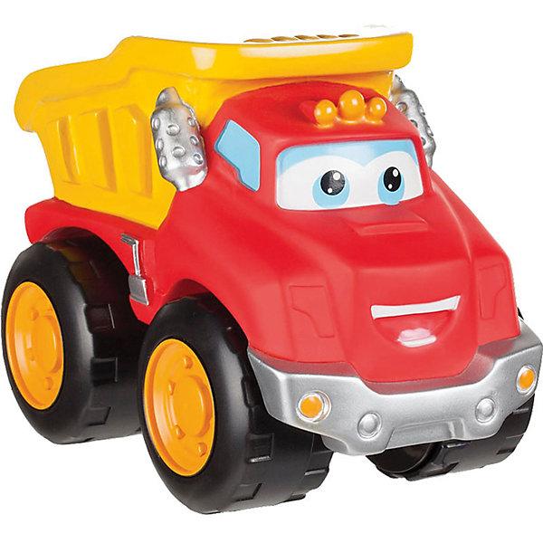 Машинка, 16 см, Чак и его друзьяМашинки<br>Характеристики:<br><br>• Предназначение: для сюжетно-ролевых игр<br>• Пол: для мальчиков<br>• Коллекция: Чак и его друзья<br>• Цвет: черный, оранжевый, красный, желтый<br>• Материал: пластик<br>• Высота игрушки: 16 см<br>• У машинки отсутствуют острые углы и съемные детали<br>• Вес: 695 г<br>• Размеры упаковки (Д*В*Ш): 14*9*11 см<br>• Упаковка: картонная коробка открытого типа<br>• Особенности ухода: сухая или влажная чистка<br><br>Машинка, 16 см, Чак и его друзья – эта  машинка производителем которой является Minecraft, создана по мотивам детского мультсериала Приключения Чака и его друзей. Машинка выполнена из ударопрочного пластика, который отвечает международным стандартам качества и безопасности. <br><br>Элементы игрового набора окрашены нетоксичными красками. У игрушки отсутствуют съемные детали и острые углы, что делает ее безопасной даже для самых маленьких. Машинка выполнена в виде грузовика с откидывающимся кузовом. Подвижные или сюжетно-ролевые игры с машинкой  будут способствовать развитию координации движений, фантазии и воображения вашего мальчика.<br><br>Машинку, 16 см, Чак и его друзья можно купить в нашем интернет-магазине.<br>Ширина мм: 140; Глубина мм: 90; Высота мм: 110; Вес г: 695; Возраст от месяцев: 36; Возраст до месяцев: 2147483647; Пол: Мужской; Возраст: Детский; SKU: 5331554;