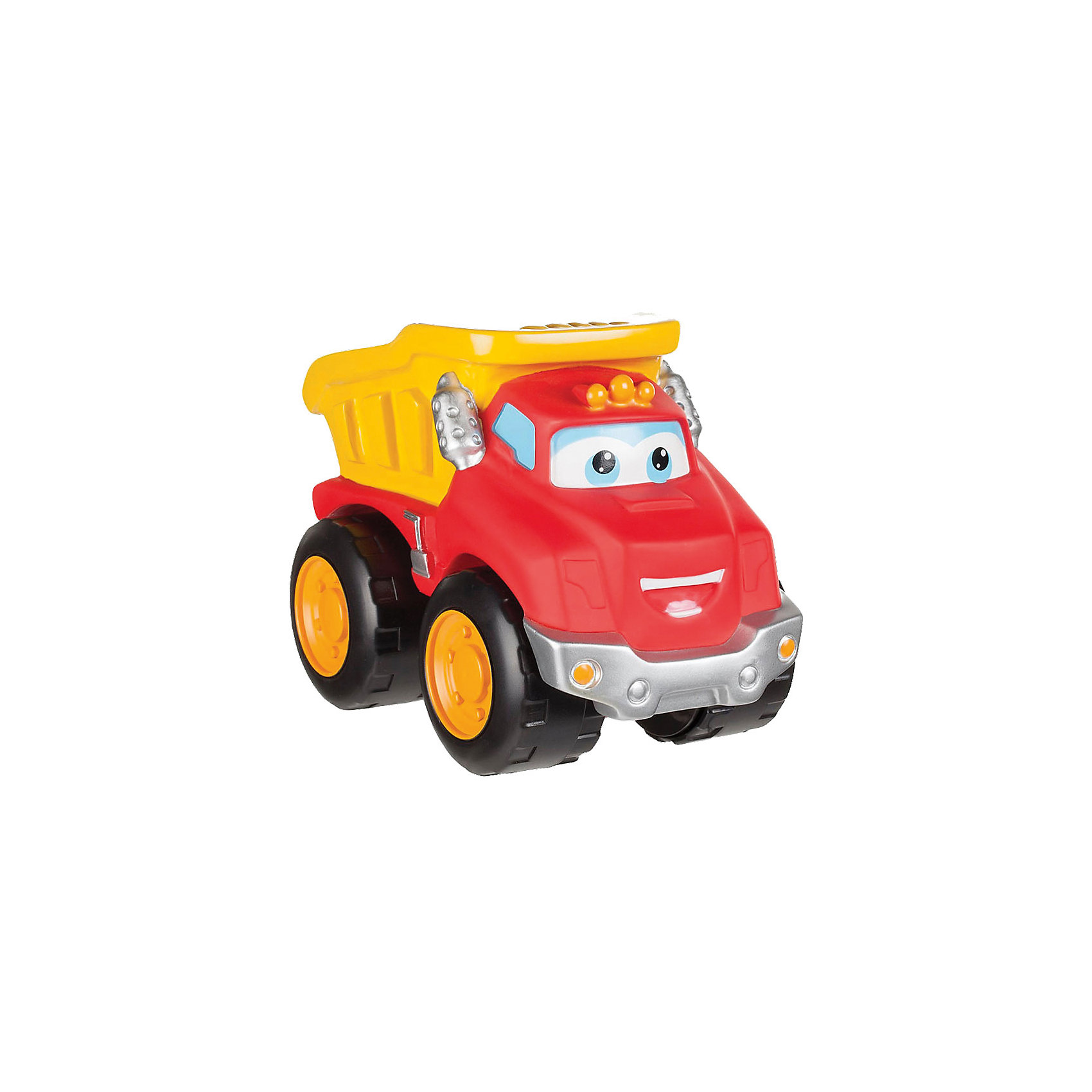 Машинка, 16 см, Чак и его друзьяМашинки<br>Характеристики:<br><br>• Предназначение: для сюжетно-ролевых игр<br>• Пол: для мальчиков<br>• Коллекция: Чак и его друзья<br>• Цвет: черный, оранжевый, красный, желтый<br>• Материал: пластик<br>• Высота игрушки: 16 см<br>• У машинки отсутствуют острые углы и съемные детали<br>• Вес: 695 г<br>• Размеры упаковки (Д*В*Ш): 14*9*11 см<br>• Упаковка: картонная коробка открытого типа<br>• Особенности ухода: сухая или влажная чистка<br><br>Машинка, 16 см, Чак и его друзья – эта  машинка производителем которой является Minecraft, создана по мотивам детского мультсериала Приключения Чака и его друзей. Машинка выполнена из ударопрочного пластика, который отвечает международным стандартам качества и безопасности. <br><br>Элементы игрового набора окрашены нетоксичными красками. У игрушки отсутствуют съемные детали и острые углы, что делает ее безопасной даже для самых маленьких. Машинка выполнена в виде грузовика с откидывающимся кузовом. Подвижные или сюжетно-ролевые игры с машинкой  будут способствовать развитию координации движений, фантазии и воображения вашего мальчика.<br><br>Машинку, 16 см, Чак и его друзья можно купить в нашем интернет-магазине.<br><br>Ширина мм: 140<br>Глубина мм: 90<br>Высота мм: 110<br>Вес г: 695<br>Возраст от месяцев: 36<br>Возраст до месяцев: 2147483647<br>Пол: Мужской<br>Возраст: Детский<br>SKU: 5331554