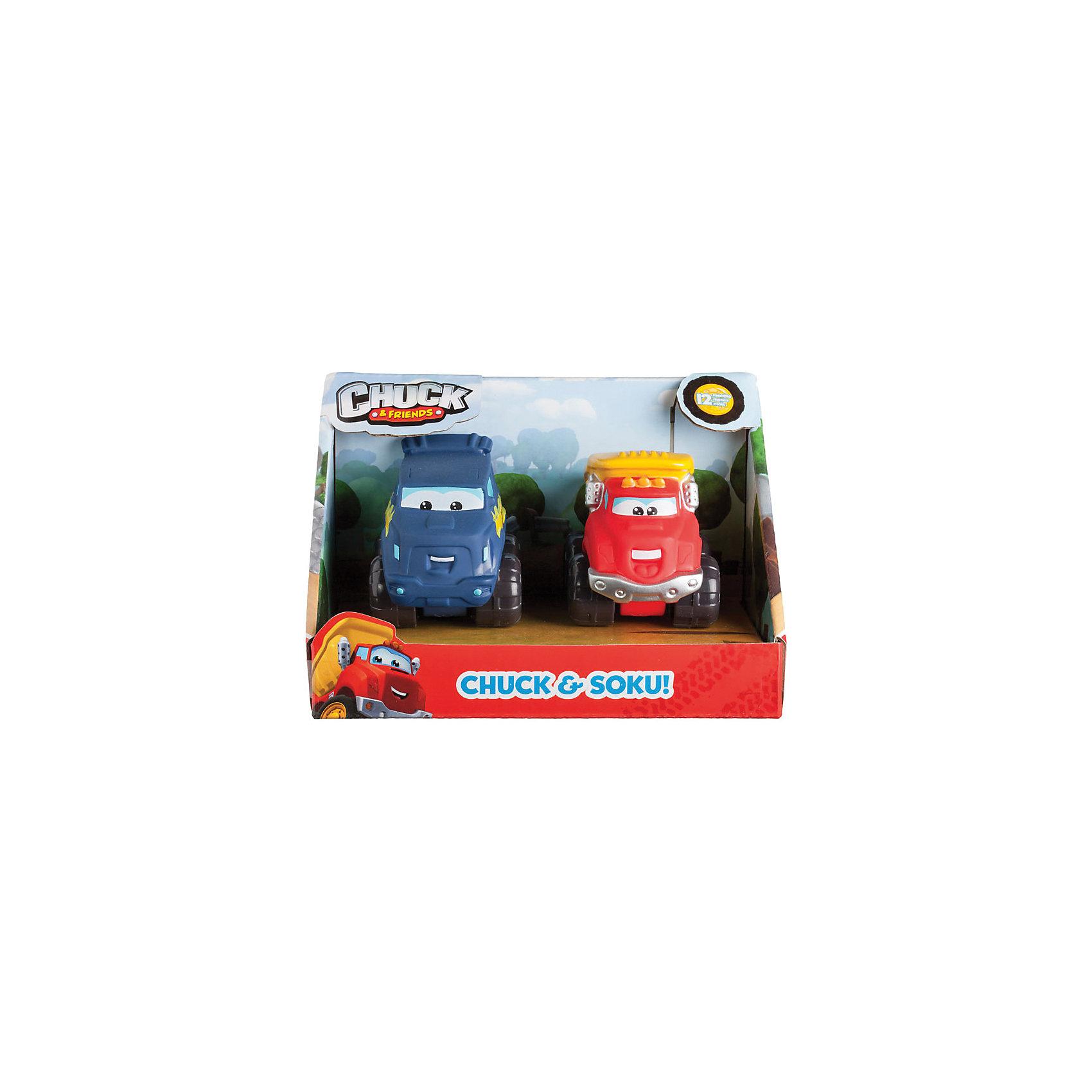 Машинки 5 см, 2 шт., Чак и его друзьяМашинки<br>Характеристики:<br><br>• Предназначение: для сюжетно-ролевых игр<br>• Пол: для мальчиков<br>• Коллекция: Чак и его друзья<br>• Цвет: синий, красный, желтый, черный<br>• Материал: пластик<br>• Комплектация: 2 машинки<br>• Размер игрушки: 5 см<br>• У машинок отсутствуют острые углы и съемные детали<br>• Вес: 164 г<br>• Размеры упаковки (Д*В*Ш): 37*1,5*5 см<br>• Упаковка: картонная коробка открытого типа<br>• Особенности ухода: сухая или влажная чистка<br><br>Машинки 5 см, 2 шт., Чак и его друзья – эта  машинка производителем которой является Minecraft, создана по мотивам детского мультсериала Приключения Чака и его друзей. Машинки выполнены из ударопрочного пластика, который отвечает международным стандартам качества и безопасности. <br><br>Элементы игрового набора окрашены нетоксичными красками. У игрушек отсутствуют съемные детали и острые углы, что делает их безопасными даже для самых маленьких. Набор включает в себя машинку Чака (грузовичок) и машинку Соку (друг Чака). Подвижные или сюжетно-ролевые игры с машинками  будут способствовать развитию координации движений, фантазии и воображения, а также позволят воспроизвести наиболее понравившиеся сюжеты с любимыми героями.<br><br>Машинки 5 см, 2 шт., Чак и его друзья можно купить в нашем интернет-магазине.<br><br>Ширина мм: 50<br>Глубина мм: 15<br>Высота мм: 37<br>Вес г: 164<br>Возраст от месяцев: 36<br>Возраст до месяцев: 2147483647<br>Пол: Мужской<br>Возраст: Детский<br>SKU: 5331555