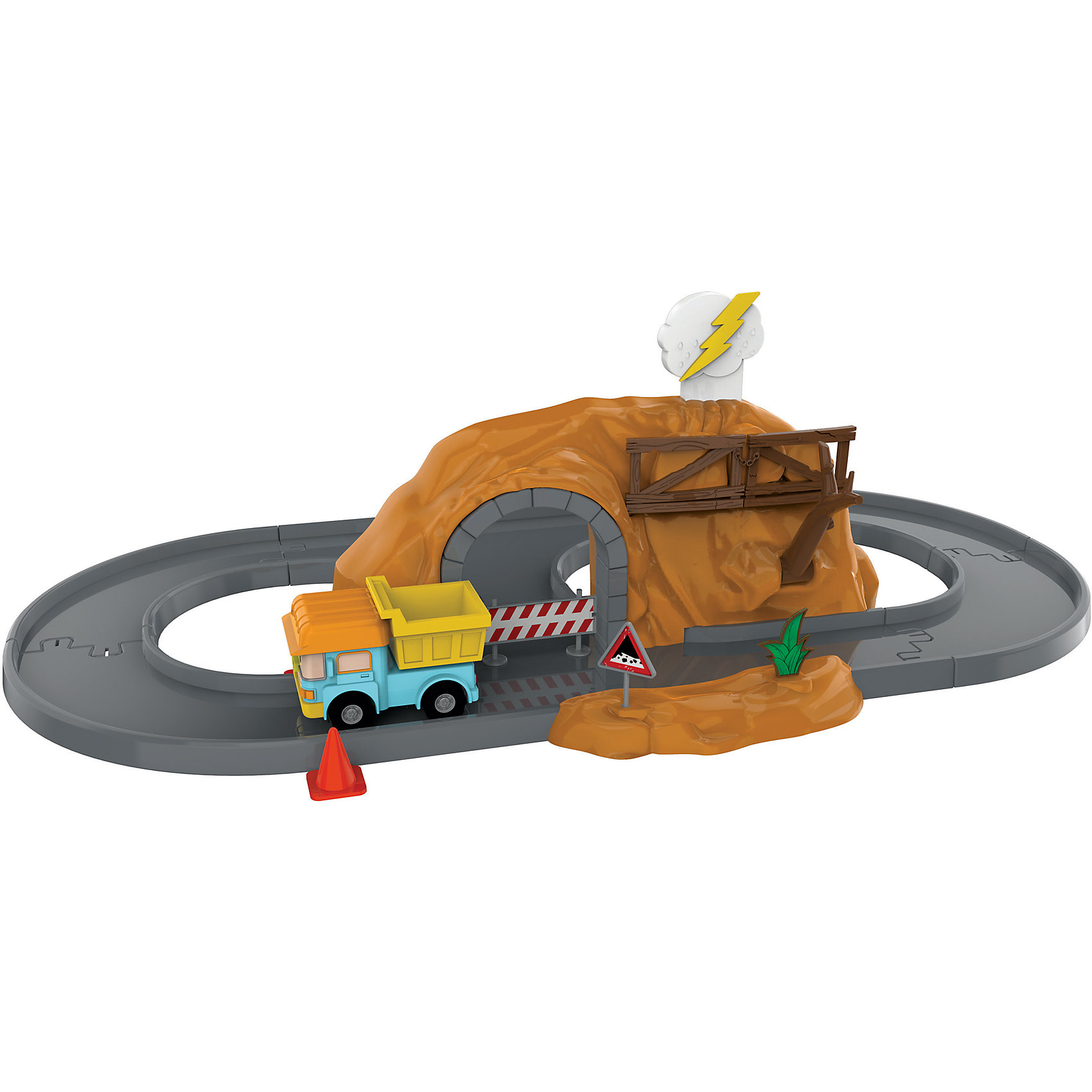 Пещера с камнями с металлической машинкой Дампи, Робокар ПолиИдеи подарков<br>Характеристики:<br><br>• Предназначение: для сюжетно-ролевых игр<br>• Пол: универсальный<br>• Коллекция: Робокар Поли и его друзья<br>• Материал: пластик, металл<br>• Комплектация: машинка, элементы железнодорожного полотна, пещера, аксессуары<br>• Имитация горного обвала<br>• Вес: 900 г<br>• Размеры упаковки (Д*В*Ш): 36*18*18 см<br>• Упаковка: картонная коробка с блистером<br>• Особенности ухода: сухая или влажная чистка<br><br>Пещера с камнями с металлической машинкой Дампи, Робокар Поли – этот  набор производителем которого является торговый бренд Silverlit, специализирующийся на выпуске высокотехнологических игрушек. Набор состоит из железнодорожного полотна овальной формы, пещеры, машинки в образе Дампи, а также аксессуаров. Железная дорога и аксессуары выполнены из ударопрочного и нетоксичного пластика. Машинка из металла. <br><br>Элементы игрового набора окрашены безопасными красками. Входящие в набор аксессуары, позволяют имитировать обвал камней в горах, для этого достаточно нажать на облачко, расположенное на вершине тоннеля-горы. Подвижные или сюжетно-ролевые игры с машинками  будут способствовать развитию координации движений, фантазии и воображения, а также позволят воспроизвести наиболее понравившиеся сюжеты с любимыми героями.<br><br>Пещера с камнями с металлической машинкой Дампи, Робокар Поли можно купить в нашем интернет-магазине.<br><br>Ширина мм: 360<br>Глубина мм: 180<br>Высота мм: 180<br>Вес г: 900<br>Возраст от месяцев: 36<br>Возраст до месяцев: 2147483647<br>Пол: Мужской<br>Возраст: Детский<br>SKU: 5331558