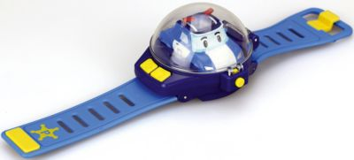 Silverlit Часы с мини машинкой на дистанционном управлении, Робокар Поли