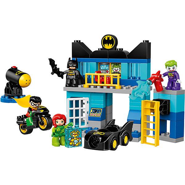 LEGO DUPLO 10842: БэтпещераПластмассовые конструкторы<br>LEGO DUPLO 10842: Бэтпещера<br><br>Характеристики:<br><br>- в набор входит: детали бэтпещеры, пушки, бэтмобиль, бэтмоцикл, 4 фигурки, аксессуары, красочная инструкция<br>- фигурки набора: Бэтмен, Робин, Джокер, Ядовитый Плющ<br>- состав: пластик<br>- количество деталей: 73 <br>- размер пещеры: 23 * 9 * 19 см.<br>- размер бэтмобиля: 12 * 4 * 5 см.<br>- размер бэтмоцикла: 9 * 4 * 5 см.<br>- для детей в возрасте: от 2 до 5 лет<br>- Страна производитель: Дания/Китай/Чехия<br><br>Легендарный конструктор LEGO (ЛЕГО) представляет серию «DUPLO» (Д?пло) для самых маленьких строителей ЛЕГО от 2-х лет. Кубики этой серии в два раза больше обычных, так же как и фигурки. Серия позволяет ребёнку самостоятельно собирать наборы легкие в постройке и сосредоточенные на ситуациях из повседневной жизни, профессиях и любимых героях из мультфильмов. Этот набор посвящен юным фанатам мультфильмов о Бэтмене. Здесь вы найдете все необходимое для отличной игры. Фигурка Бэтмена отлично детализирована, он представлен в черном бэткостюме с черной маской и черным плащом из мягкого безопасного пластика. С ним его компаньон, Робин, тоже с плащом и в супергеройком костюме. Двухэтажная бэтпещера оснащена ультрасовременным компьютером для поиска злодея Джокера, Бэтмен сидит на вращающемся стуле и анализирует ситуацию. На первом этаже расположена бэттюрьма для преступников и пушка стреляющая снарядами. Бэтмен получил сингал о местонахождении двух преступников, он сел в свой бэтмобиль, а Робин решил поехать на бэтмоцикле. Вместе они настигли Джокера и Ядовитого Плюща за ограблением ювелирного магазина. Злодей джокер вооружен. Смогут ли они остановить преступников? Все фигурки набора могут двигать руками, головой и принимать сидячее положение. Детали набора легко собираются и в них можно играть почти сразу. Играя с конструктором ребенок развивает моторику рук, воображение и логическое мышление. Придумывайте новые игры с набором LEGO «DUPLO»!<br><br>