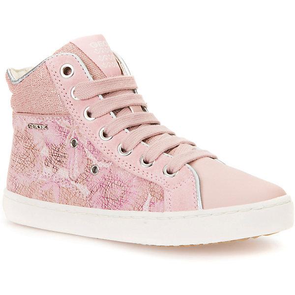 Кеды для девочки GEOXКеды<br>Характеристики товара:<br><br>• цвет: розовый<br>• внешний материал: 80% натуральная кожа, 20% текстиль<br>• внутренний материал: текстиль<br>• стелька: натуральная кожа<br>• подошва: резина<br>• застежка: шнуровка, молния<br>• комфортная посадка на ноге<br>• высота подошвы: 1 см.<br>• устойчивая подошва<br>• мембранная технология<br>• декорированы логотипом<br>• коллекция: весна-лето 2017<br>• страна бренда: Италия<br><br>Удобные симпатичные кеды помогут обеспечить ребенку комфорт и дополнить наряд. Универсальный цвет позволяет надевать их под одежду разных расцветок. Кеды удобно сидят на ноге и красиво смотрятся. Отличный вариант для прохладной погоды!<br><br>Обувь от бренда GEOX - это классический пример итальянского стиля и высокого качества, известных по всему миру. Модели этой марки - неизменно модные и комфортные. Для их производства используются только безопасные, качественные материалы и фурнитура. Отличие этой линейки обуви - мембранная технология, которая обеспечивает естественное дыхание обуви и в то же время не пропускает воду. Это особенно важно для детской обуви!<br><br>Кеды от итальянского бренда GEOX (ГЕОКС) можно купить в нашем интернет-магазине.<br><br>Ширина мм: 262<br>Глубина мм: 176<br>Высота мм: 97<br>Вес г: 427<br>Цвет: розовый<br>Возраст от месяцев: 24<br>Возраст до месяцев: 36<br>Пол: Женский<br>Возраст: Детский<br>Размер: 26,34,33,32,31,30,29,28,27<br>SKU: 5335679