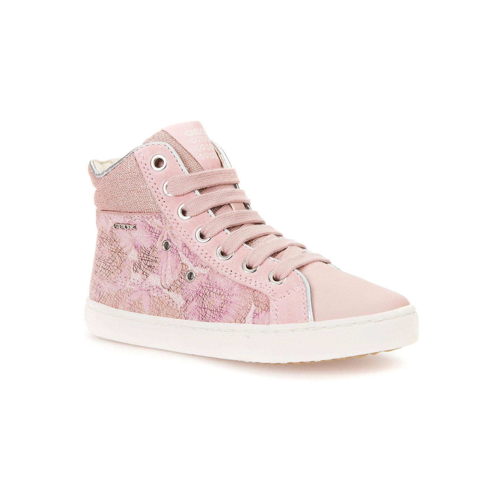 Кеды для девочки GEOXКеды<br>Характеристики товара:<br><br>• цвет: розовый<br>• внешний материал: 80% натуральная кожа, 20% текстиль<br>• внутренний материал: текстиль<br>• стелька: натуральная кожа<br>• подошва: резина<br>• застежка: шнуровка, молния<br>• комфортная посадка на ноге<br>• высота подошвы: 1 см.<br>• устойчивая подошва<br>• мембранная технология<br>• декорированы логотипом<br>• коллекция: весна-лето 2017<br>• страна бренда: Италия<br><br>Удобные симпатичные кеды помогут обеспечить ребенку комфорт и дополнить наряд. Универсальный цвет позволяет надевать их под одежду разных расцветок. Кеды удобно сидят на ноге и красиво смотрятся. Отличный вариант для прохладной погоды!<br><br>Обувь от бренда GEOX - это классический пример итальянского стиля и высокого качества, известных по всему миру. Модели этой марки - неизменно модные и комфортные. Для их производства используются только безопасные, качественные материалы и фурнитура. Отличие этой линейки обуви - мембранная технология, которая обеспечивает естественное дыхание обуви и в то же время не пропускает воду. Это особенно важно для детской обуви!<br><br>Кеды от итальянского бренда GEOX (ГЕОКС) можно купить в нашем интернет-магазине.<br><br>Ширина мм: 262<br>Глубина мм: 176<br>Высота мм: 97<br>Вес г: 427<br>Цвет: розовый<br>Возраст от месяцев: 120<br>Возраст до месяцев: 132<br>Пол: Женский<br>Возраст: Детский<br>Размер: 26,27,28,29,30,34,31,32,33<br>SKU: 5335679