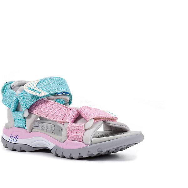 Сандалии для девочки GEOXСандалии<br>Характеристики товара:<br><br>• цвет: розовый/голубой<br>• внешний материал: текстиль<br>• внутренний материал: текстиль<br>• стелька: искусственные материалы<br>• подошва: резина<br>• застежка: липучка<br>• открытый носок<br>• спортивный стиль<br>• устойчивая подошва<br>• мембранная технология<br>• декорированы принтом<br>• коллекция: весна-лето 2017<br>• страна бренда: Италия<br><br>Легкие удобные сандали помогут обеспечить ребенку комфорт и дополнить наряд. Универсальный цвет позволяет надевать их под одежду разных расцветок. Сандали удобно сидят на ноге и стильно смотрятся. Отличный вариант для жаркой погоды!<br><br>Обувь от бренда GEOX - это классический пример итальянского стиля и высокого качества, известных по всему миру. Модели этой марки - неизменно модные и комфортные. Для их производства используются только безопасные, качественные материалы и фурнитура. Отличие этой линейки обуви - мембранная технология, которая обеспечивает естественное дыхание обуви и в то же время не пропускает воду. Это особенно важно для детской обуви!<br><br>Сандали от итальянского бренда GEOX (ГЕОКС) можно купить в нашем интернет-магазине.<br>Ширина мм: 227; Глубина мм: 145; Высота мм: 124; Вес г: 325; Цвет: розовый; Возраст от месяцев: 132; Возраст до месяцев: 144; Пол: Женский; Возраст: Детский; Размер: 35,27,34,33,32,31,30,29,28; SKU: 5335774;