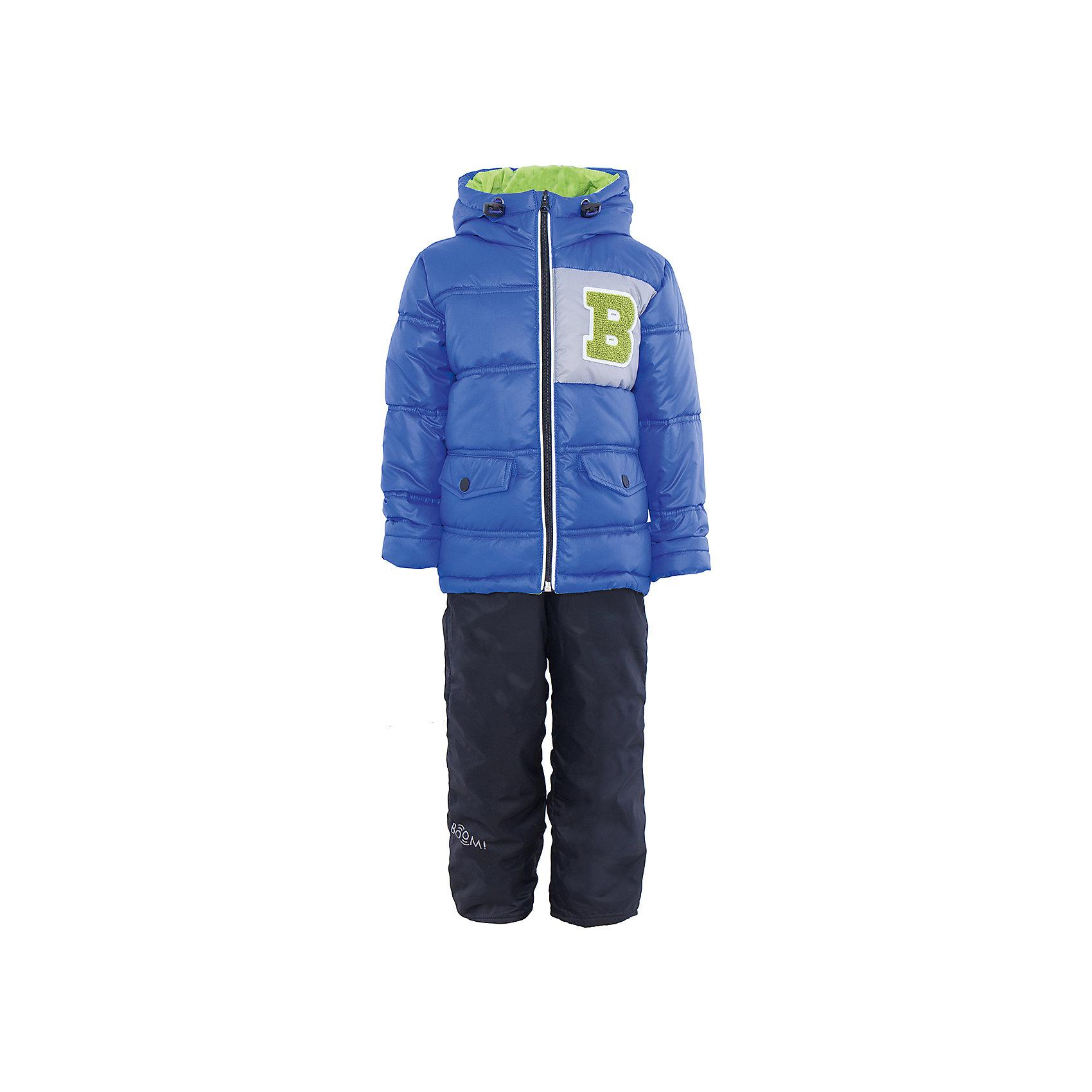 Комплект для мальчика BOOM by OrbyХарактеристики товара:<br><br>• цвет: синий/тёмно-синий<br>• состав: <br>курточка: верх - болонь, подкладка - поликоттон, полиэстер, утеплитель: эко-синтепон 150 г/м2<br>брюки: верх - таффета, подкладка - флис<br>• комплектация: куртка, брюки<br>• температурный режим: от -5 С° до +10 С° <br>• капюшон с утяжкой, не отстёгивается<br>• из практичной ткани<br>• застежка - молния<br>• куртка декорирована нашивкой<br>• отвороты помогают заметно трансформировать размер<br>• комфортная посадка<br>• страна производства: Российская Федерация<br>• страна бренда: Российская Федерация<br>• коллекция: весна-лето 2017<br><br>Такой комплект - универсальный вариант для межсезонья с постоянно меняющейся погодой. Эта модель - модная и удобная одновременно! Изделие отличается стильным ярким дизайном. Куртка и брюки хорошо сидят по фигуре, отлично сочетается с различной обувью. Модель была разработана специально для детей.<br><br>Одежда от российского бренда BOOM by Orby уже завоевала популярностью у многих детей и их родителей. Вещи, выпускаемые компанией, качественные, продуманные и очень удобные. Для производства коллекций используются только безопасные для детей материалы. Спешите приобрести модели из новой коллекции Весна-лето 2017! <br><br>Комплект для мальчика от бренда BOOM by Orby можно купить в нашем интернет-магазине.<br><br>Ширина мм: 356<br>Глубина мм: 10<br>Высота мм: 245<br>Вес г: 519<br>Цвет: фиолетовый<br>Возраст от месяцев: 36<br>Возраст до месяцев: 48<br>Пол: Мужской<br>Возраст: Детский<br>Размер: 104,122,86,92,98,110,116<br>SKU: 5342627