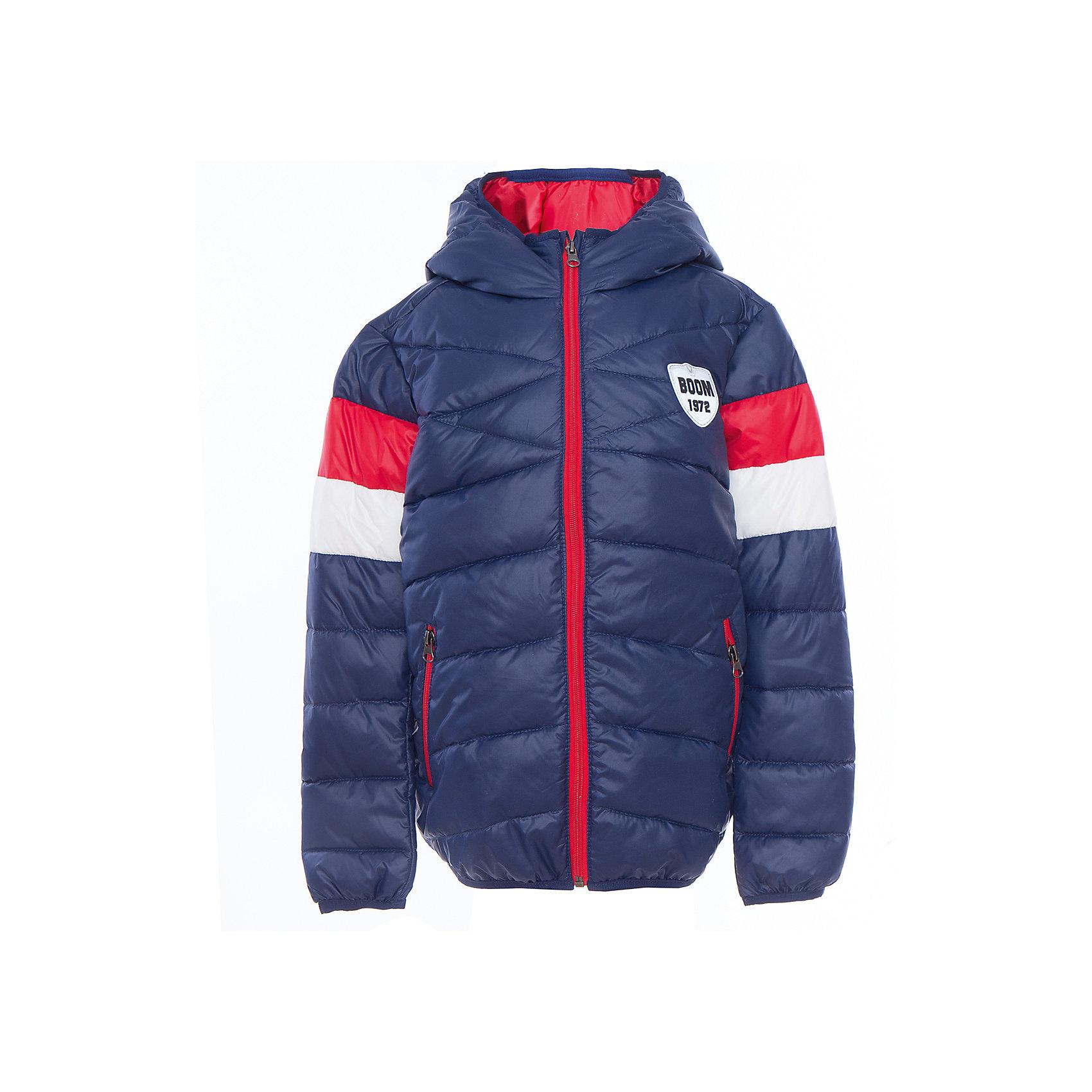 Куртка для мальчика BOOM by OrbyВерхняя одежда<br>Характеристики товара:<br><br>• цвет: синий<br>• состав: верх - болонь, подкладка - полиэстер, утеплитель: эко-синтепон 150 г/м2<br>• карманы<br>• температурный режим: от -5 С° до +10 С° <br>• капюшон не отстёгивается<br>• застежка - молния<br>• стеганая<br>• декорирована нашивкой<br>• комфортная посадка<br>• страна производства: Российская Федерация<br>• страна бренда: Российская Федерация<br>• коллекция: весна-лето 2017<br><br>Такая куртка - отличный вариант для походов в школу в межсезонье с его постоянно меняющейся погодой. Эта модель - модная и удобная одновременно! Изделие отличается стильным элегантным дизайном. Куртка хорошо сидит по фигуре, отлично сочетается с различным низом. Вещь была разработана специально для детей.<br><br>Одежда от российского бренда BOOM by Orby уже завоевала популярностью у многих детей и их родителей. Вещи, выпускаемые компанией, качественные, продуманные и очень удобные. Для производства коллекций используются только безопасные для детей материалы. Спешите приобрести модели из новой коллекции Весна-лето 2017! <br><br>Куртку для мальчика от бренда BOOM by Orby можно купить в нашем интернет-магазине.<br><br>Ширина мм: 356<br>Глубина мм: 10<br>Высота мм: 245<br>Вес г: 519<br>Цвет: синий<br>Возраст от месяцев: 24<br>Возраст до месяцев: 36<br>Пол: Мужской<br>Возраст: Детский<br>Размер: 98,158,104,110,116,122,128,134,140,146,152<br>SKU: 5342676