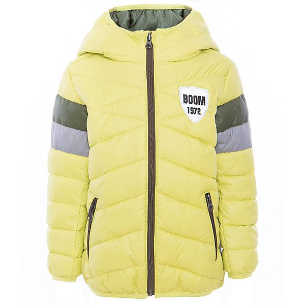 Куртка для мальчика BOOM by OrbyВерхняя одежда<br>Характеристики товара:<br><br>• цвет: салатовый<br>• состав: верх - болонь, подкладка - полиэстер, утеплитель: эко-синтепон 150 г/м2<br>• карманы<br>• температурный режим: от -5 С° до +10 С° <br>• капюшон не отстёгивается<br>• застежка - молния<br>• стеганая<br>• декорирована нашивкой<br>• комфортная посадка<br>• страна производства: Российская Федерация<br>• страна бренда: Российская Федерация<br>• коллекция: весна-лето 2017<br><br>Такая куртка - отличный вариант для походов в школу в межсезонье с его постоянно меняющейся погодой. Эта модель - модная и удобная одновременно! Изделие отличается стильным элегантным дизайном. Куртка хорошо сидит по фигуре, отлично сочетается с различным низом. Вещь была разработана специально для детей.<br><br>Одежда от российского бренда BOOM by Orby уже завоевала популярностью у многих детей и их родителей. Вещи, выпускаемые компанией, качественные, продуманные и очень удобные. Для производства коллекций используются только безопасные для детей материалы. Спешите приобрести модели из новой коллекции Весна-лето 2017! <br><br>Куртку для мальчика от бренда BOOM by Orby можно купить в нашем интернет-магазине.<br><br>Ширина мм: 356<br>Глубина мм: 10<br>Высота мм: 245<br>Вес г: 519<br>Цвет: зеленый<br>Возраст от месяцев: 36<br>Возраст до месяцев: 48<br>Пол: Мужской<br>Возраст: Детский<br>Размер: 104,158,152,146,140,134,128,122,116,98,110<br>SKU: 5342688