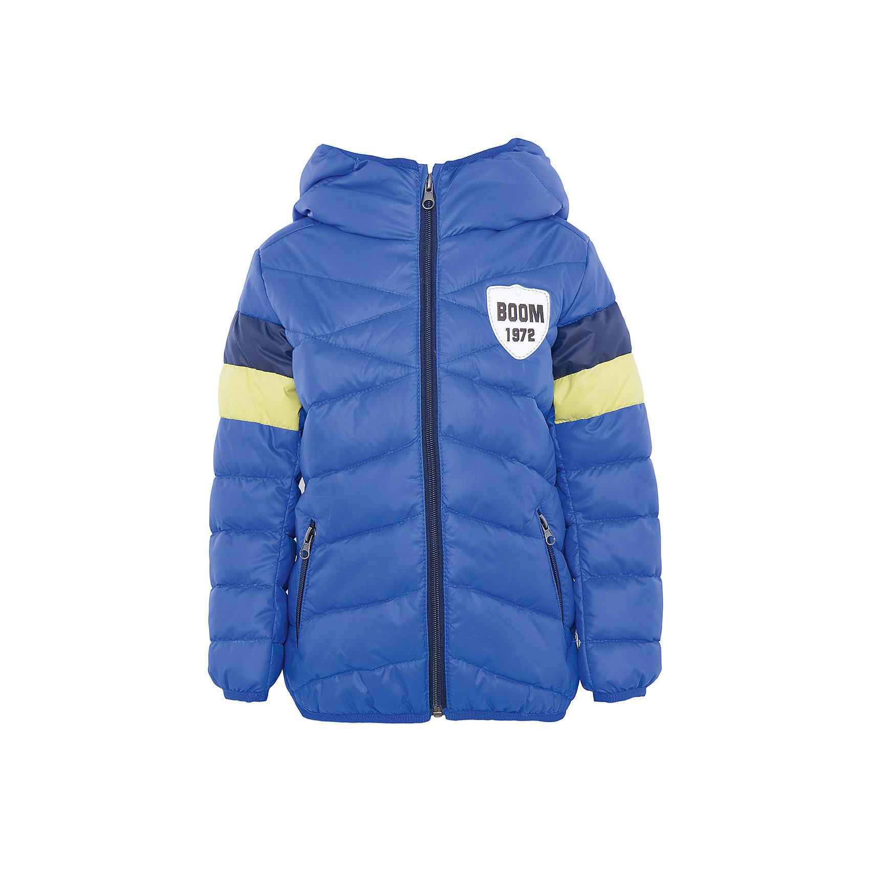 Куртка для мальчика BOOM by OrbyХарактеристики товара:<br><br>• цвет: синий<br>• состав: верх - болонь, подкладка - полиэстер, утеплитель: эко-синтепон 150 г/м2<br>• карманы<br>• температурный режим: от -5 С° до +10 С° <br>• капюшон не отстёгивается<br>• застежка - молния<br>• стеганая<br>• декорирована нашивкой<br>• комфортная посадка<br>• страна производства: Российская Федерация<br>• страна бренда: Российская Федерация<br>• коллекция: весна-лето 2017<br><br>Такая куртка - отличный вариант для походов в школу в межсезонье с его постоянно меняющейся погодой. Эта модель - модная и удобная одновременно! Изделие отличается стильным элегантным дизайном. Куртка хорошо сидит по фигуре, отлично сочетается с различным низом. Вещь была разработана специально для детей.<br><br>Одежда от российского бренда BOOM by Orby уже завоевала популярностью у многих детей и их родителей. Вещи, выпускаемые компанией, качественные, продуманные и очень удобные. Для производства коллекций используются только безопасные для детей материалы. Спешите приобрести модели из новой коллекции Весна-лето 2017! <br><br>Куртку для мальчика от бренда BOOM by Orby можно купить в нашем интернет-магазине.<br><br>Ширина мм: 356<br>Глубина мм: 10<br>Высота мм: 245<br>Вес г: 519<br>Цвет: синий<br>Возраст от месяцев: 48<br>Возраст до месяцев: 60<br>Пол: Мужской<br>Возраст: Детский<br>Размер: 110,152,158,104,98,116,122,128,134,140,146<br>SKU: 5342700