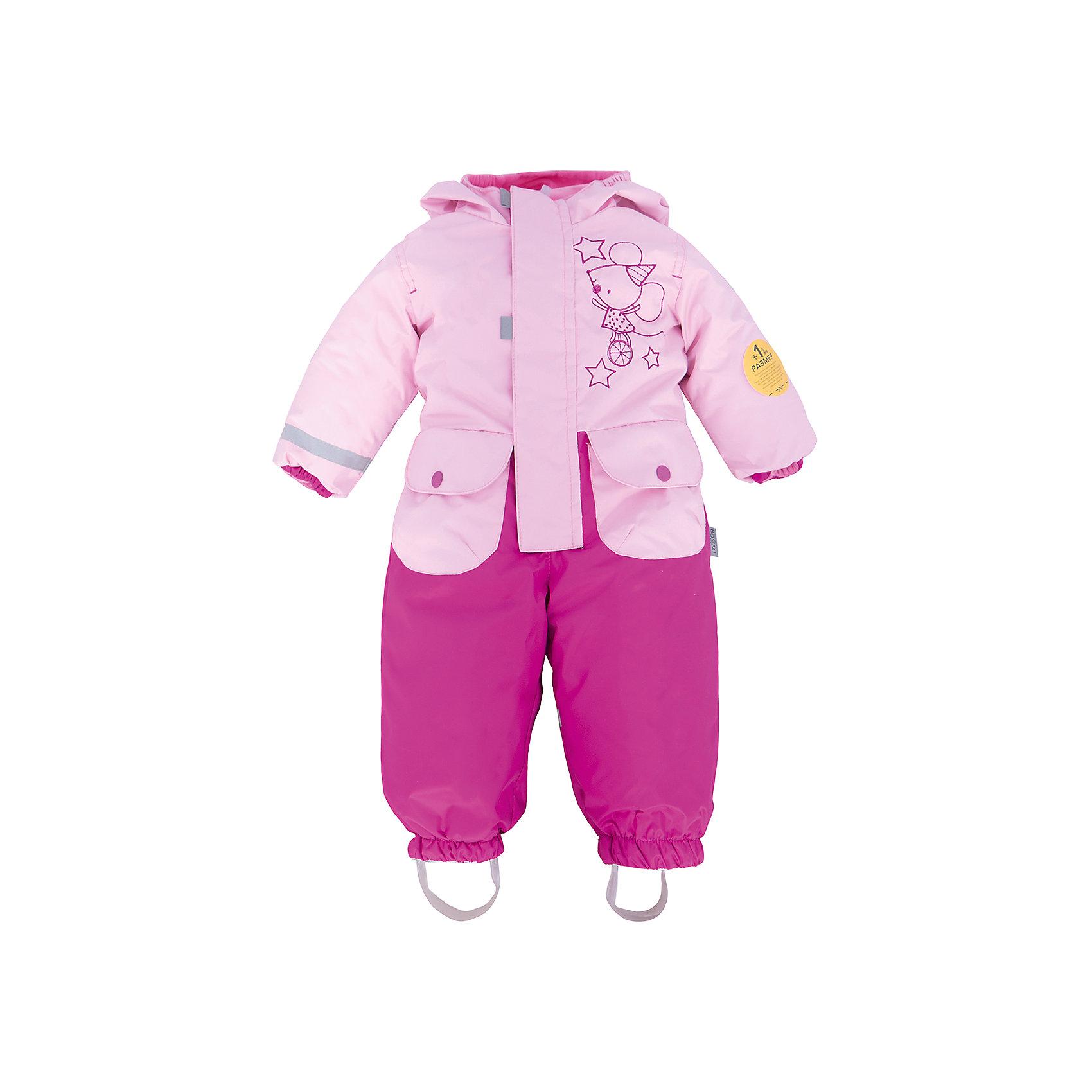 Комбинезон для девочки BOOM by OrbyВерхняя одежда<br>Характеристики товара:<br><br>• цвет: розовый/фуксия<br>• состав: верх - нейлон с мембранным покрытием 3000*3000, подкладка - поларфлис, поликоттон, утеплитель: FiberSoft 100 г/м2<br>• температурный режим: от -5°до +10°С<br>• ветронепроницаемый<br>• капюшон не отстёгивается<br>• застежка - молния<br>• планка от ветра<br>• водо- и грязеотталкивающее покрытие<br>• карманы<br>• штрипки<br>• декорирован принтом<br>• мембранное дышащее покрытие<br>• комфортная посадка<br>• страна производства: Российская Федерация<br>• страна бренда: Российская Федерация<br>• коллекция: весна-лето 2017<br><br>Одежда для самых маленьких должна быть особо комфортной! Такой комбинезон - отличный вариант для межсезонья с постоянно меняющейся погодой. Эта модель - модная и удобная одновременно! Изделие отличается стильным ярким дизайном. Комбинезон дополнен мягкой подкладкой. Вещь была разработана специально для малышей.<br><br>Одежда от российского бренда BOOM by Orby уже завоевала популярностью у многих детей и их родителей. Вещи, выпускаемые компанией, качественные, продуманные и очень удобные. Для производства коллекций используются только безопасные для детей материалы. Спешите приобрести модели из новой коллекции Весна-лето 2017! <br><br>Комбинезон для девочки от бренда BOOM by Orby можно купить в нашем интернет-магазине.<br><br>Ширина мм: 356<br>Глубина мм: 10<br>Высота мм: 245<br>Вес г: 519<br>Цвет: розовый<br>Возраст от месяцев: 6<br>Возраст до месяцев: 9<br>Пол: Женский<br>Возраст: Детский<br>Размер: 74,98,80,86,92<br>SKU: 5342769