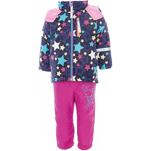 Комплект для девочки BOOM by OrbyВерхняя одежда<br>Характеристики товара:<br><br>• цвет: синий/фуксия<br>• состав: <br>курточка: верх - нейлон с мембранным покрытием 3000*3000, подкладка - поларфлис, полиэстер, утеплитель: FiberSoft 100 г/м2<br>брюки: верх - нейлон с мембранным покрытием 3000*3000, подкладка - поларфлис<br>• комплектация: куртка, брюки<br>• температурный режим: от -5 С° до +10 С° <br>• эластичные регулируемые подтяжки<br>• застежка - молния<br>• куртка декорирована принтом<br>• капюшон<br>• силиконовые штрипки<br>• комфортная посадка<br>• страна производства: Российская Федерация<br>• страна бренда: Российская Федерация<br>• коллекция: весна-лето 2017<br><br>Такой комплект - универсальный вариант для межсезонья с постоянно меняющейся погодой. Эта модель - модная и удобная одновременно! Изделие отличается стильным ярким дизайном. Куртка и брюки хорошо сидят по фигуре, отлично сочетается с различной обувью. Модель была разработана специально для детей.<br><br>Одежда от российского бренда BOOM by Orby уже завоевала популярностью у многих детей и их родителей. Вещи, выпускаемые компанией, качественные, продуманные и очень удобные. Для производства коллекций используются только безопасные для детей материалы. Спешите приобрести модели из новой коллекции Весна-лето 2017! <br><br>Комплект для девочки от бренда BOOM by Orby можно купить в нашем интернет-магазине.<br>Ширина мм: 356; Глубина мм: 10; Высота мм: 245; Вес г: 519; Цвет: черный; Возраст от месяцев: 72; Возраст до месяцев: 84; Пол: Женский; Возраст: Детский; Размер: 122,80,116,110,98,92,104,86; SKU: 5342787;