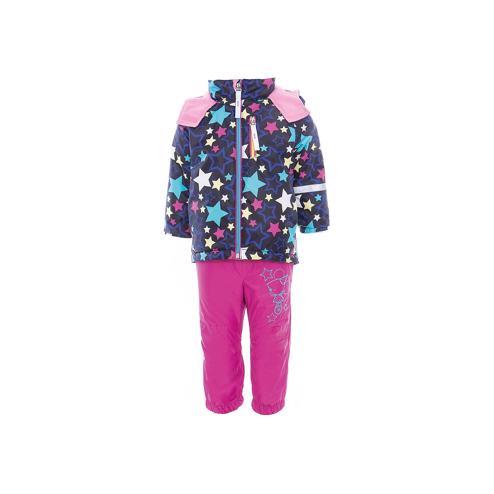 Комплект для девочки BOOM by OrbyВерхняя одежда<br>Характеристики товара:<br><br>• цвет: синий/фуксия<br>• состав: <br>курточка: верх - нейлон с мембранным покрытием 3000*3000, подкладка - поларфлис, полиэстер, утеплитель: FiberSoft 100 г/м2<br>брюки: верх - нейлон с мембранным покрытием 3000*3000, подкладка - поларфлис<br>• комплектация: куртка, брюки<br>• температурный режим: от -5 С° до +10 С° <br>• эластичные регулируемые подтяжки<br>• застежка - молния<br>• куртка декорирована принтом<br>• капюшон<br>• силиконовые штрипки<br>• комфортная посадка<br>• страна производства: Российская Федерация<br>• страна бренда: Российская Федерация<br>• коллекция: весна-лето 2017<br><br>Такой комплект - универсальный вариант для межсезонья с постоянно меняющейся погодой. Эта модель - модная и удобная одновременно! Изделие отличается стильным ярким дизайном. Куртка и брюки хорошо сидят по фигуре, отлично сочетается с различной обувью. Модель была разработана специально для детей.<br><br>Одежда от российского бренда BOOM by Orby уже завоевала популярностью у многих детей и их родителей. Вещи, выпускаемые компанией, качественные, продуманные и очень удобные. Для производства коллекций используются только безопасные для детей материалы. Спешите приобрести модели из новой коллекции Весна-лето 2017! <br><br>Комплект для девочки от бренда BOOM by Orby можно купить в нашем интернет-магазине.<br><br>Ширина мм: 356<br>Глубина мм: 10<br>Высота мм: 245<br>Вес г: 519<br>Цвет: черный<br>Возраст от месяцев: 72<br>Возраст до месяцев: 84<br>Пол: Женский<br>Возраст: Детский<br>Размер: 122,80,86,104,92,98,110,116<br>SKU: 5342787
