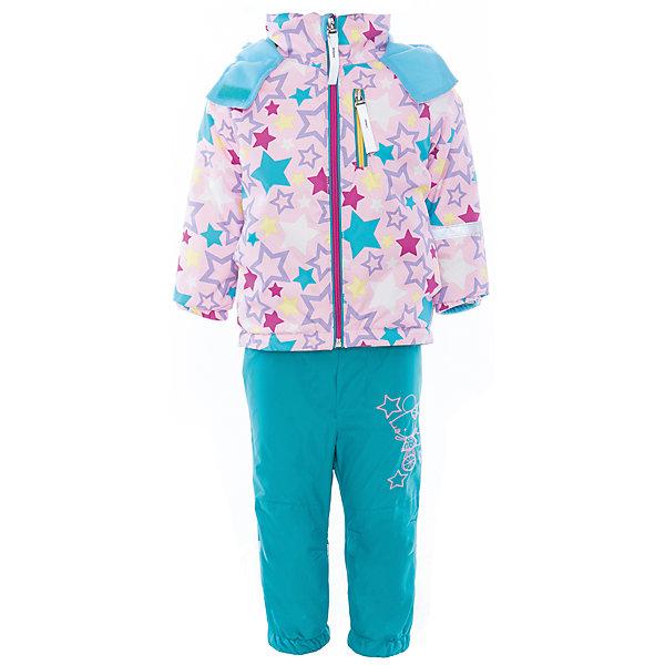 Комплект для девочки BOOM by OrbyВерхняя одежда<br>Характеристики товара:<br><br>• цвет: розовый/бирюзовый<br>• состав: <br>курточка: верх - нейлон с мембранным покрытием 3000*3000, подкладка - поларфлис, полиэстер, утеплитель: FiberSoft 100 г/м2<br>брюки: верх - нейлон с мембранным покрытием 3000*3000, подкладка - поларфлис<br>• комплектация: куртка, брюки<br>• температурный режим: от -5 С° до +10 С° <br>• эластичные регулируемые подтяжки<br>• застежка - молния<br>• куртка декорирована принтом<br>• капюшон<br>• силиконовые штрипки<br>• комфортная посадка<br>• страна производства: Российская Федерация<br>• страна бренда: Российская Федерация<br>• коллекция: весна-лето 2017<br><br>Такой комплект - универсальный вариант для межсезонья с постоянно меняющейся погодой. Эта модель - модная и удобная одновременно! Изделие отличается стильным ярким дизайном. Куртка и брюки хорошо сидят по фигуре, отлично сочетается с различной обувью. Модель была разработана специально для детей.<br><br>Одежда от российского бренда BOOM by Orby уже завоевала популярностью у многих детей и их родителей. Вещи, выпускаемые компанией, качественные, продуманные и очень удобные. Для производства коллекций используются только безопасные для детей материалы. Спешите приобрести модели из новой коллекции Весна-лето 2017! <br><br>Комплект для девочки от бренда BOOM by Orby можно купить в нашем интернет-магазине.<br>Ширина мм: 356; Глубина мм: 10; Высота мм: 245; Вес г: 519; Цвет: голубой; Возраст от месяцев: 12; Возраст до месяцев: 15; Пол: Женский; Возраст: Детский; Размер: 80,122,116,110,98,92,104,86; SKU: 5342796;