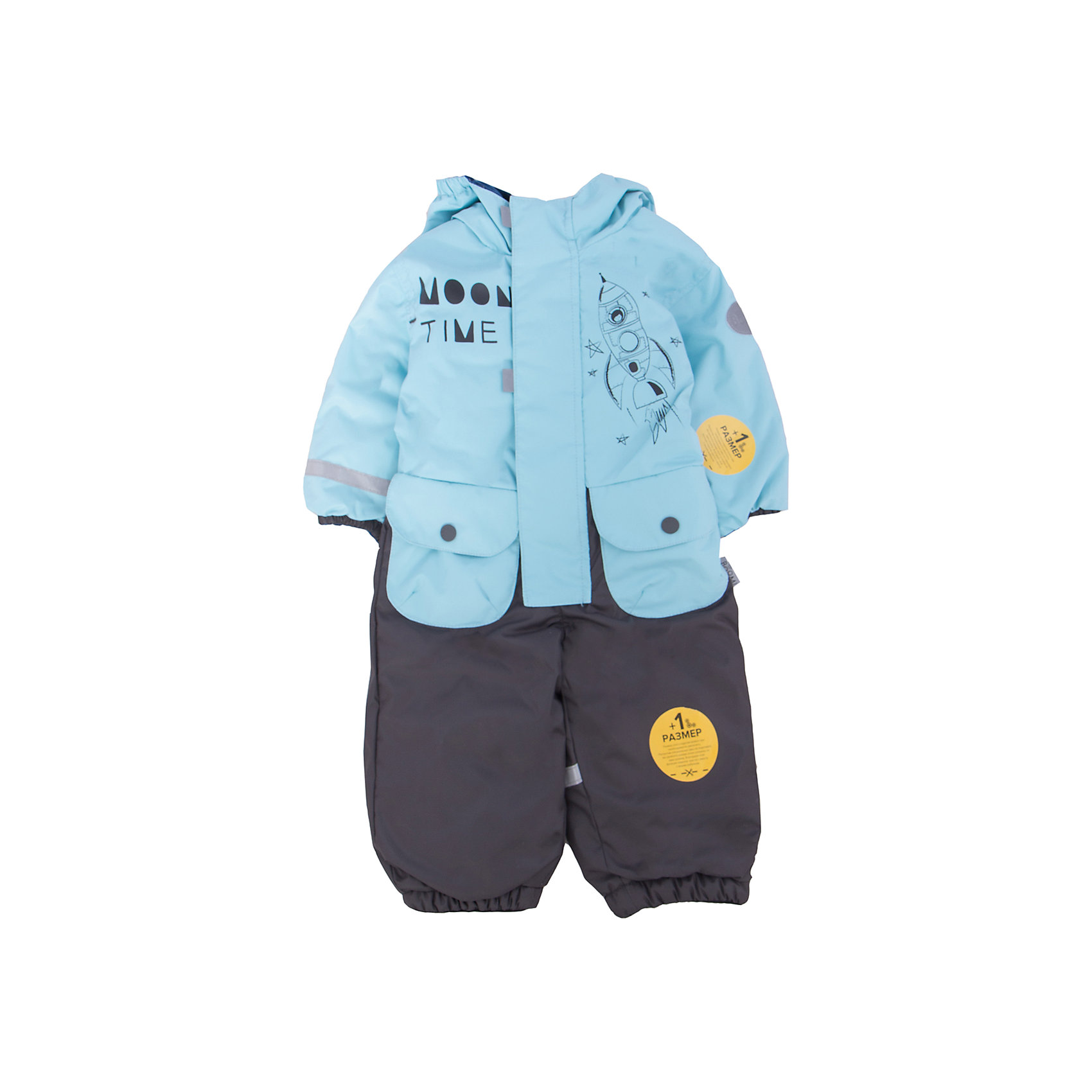Комбинезон для мальчика BOOM by OrbyВерхняя одежда<br>Характеристики товара:<br><br>• цвет: голубой/серый<br>• состав: верх - нейлон с мембранным покрытием 3000*3000, подкладка - поларфлис, поликоттон, утеплитель: FiberSoft 100 г/м2<br>• температурный режим: от -5° до +10°С<br>• ветронепроницаемый<br>• капюшон не отстёгивается<br>• застежка - молния<br>• планка от ветра<br>• водо- и грязеотталкивающее покрытие<br>• карманы<br>• декорирован принтом<br>• мембранное дышащее покрытие<br>• комфортная посадка<br>• страна производства: Российская Федерация<br>• страна бренда: Российская Федерация<br>• коллекция: весна-лето 2017<br><br>Одежда для самых маленьких должна быть особо комфортной! Такой комбинезон - отличный вариант для межсезонья с постоянно меняющейся погодой. Эта модель - модная и удобная одновременно! Изделие отличается стильным ярким дизайном. Комбинезон дополнен мягкой подкладкой. Вещь была разработана специально для малышей.<br><br>Одежда от российского бренда BOOM by Orby уже завоевала популярностью у многих детей и их родителей. Вещи, выпускаемые компанией, качественные, продуманные и очень удобные. Для производства коллекций используются только безопасные для детей материалы. Спешите приобрести модели из новой коллекции Весна-лето 2017! <br><br>Комбинезон для мальчика от бренда BOOM by Orby можно купить в нашем интернет-магазине.<br><br>Ширина мм: 356<br>Глубина мм: 10<br>Высота мм: 245<br>Вес г: 519<br>Цвет: голубой<br>Возраст от месяцев: 6<br>Возраст до месяцев: 9<br>Пол: Мужской<br>Возраст: Детский<br>Размер: 74,98,80,86,92<br>SKU: 5342805