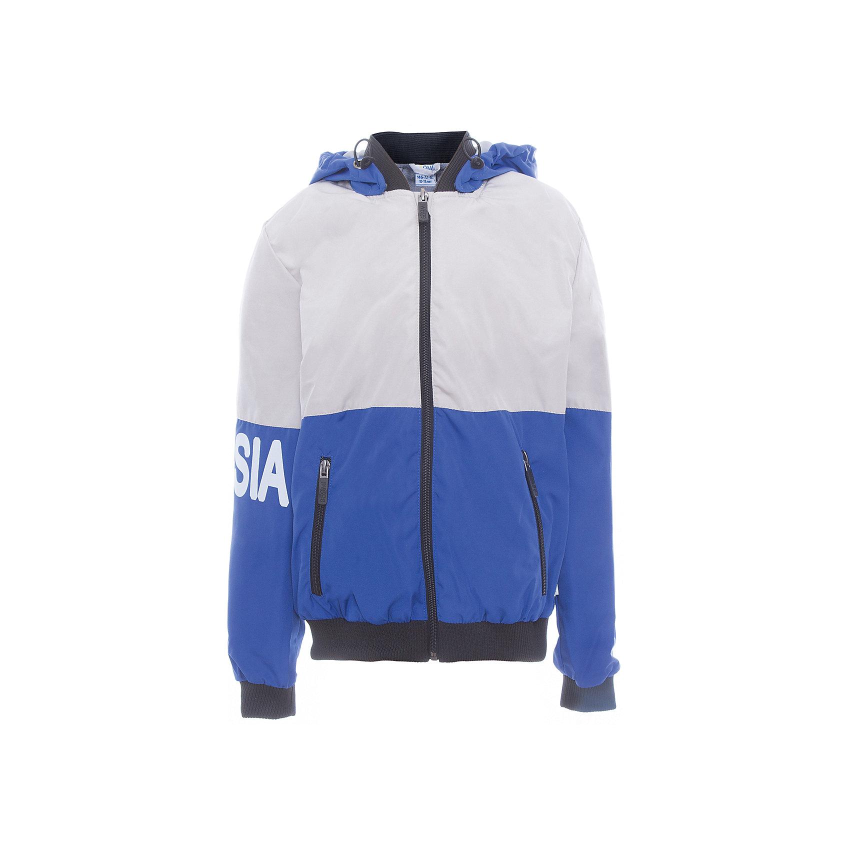 Куртка для мальчика BOOM by OrbyХарактеристики товара:<br><br>• цвет: синий<br>• состав: верх - Pronto pu, подкладка - полиэстер, флис, без утеплителя<br>• температурный режим: от +5°до +15°С<br>• демисезон<br>• капюшон<br>• застежка - молния<br>• эластичные манжеты<br>• принт<br>• карманы<br>• комфортная посадка<br>• страна производства: Российская Федерация<br>• страна бренда: Российская Федерация<br>• коллекция: весна-лето 2017<br><br>Такая куртка - универсальный вариант для теплого межсезонья с постоянно меняющейся погодой. Эта модель - модная и удобная одновременно! Изделие отличается стильным ярким дизайном. Куртка хорошо сидит по фигуре, отлично сочетается с различным низом. Вещь была разработана специально для детей.<br><br>Куртку для мальчика для девочки от бренда BOOM by Orby можно купить в нашем интернет-магазине.<br><br>Ширина мм: 356<br>Глубина мм: 10<br>Высота мм: 245<br>Вес г: 519<br>Цвет: серый<br>Возраст от месяцев: 144<br>Возраст до месяцев: 156<br>Пол: Мужской<br>Возраст: Детский<br>Размер: 158,104,110,98,116,122,128,134,140,146,152<br>SKU: 5342886
