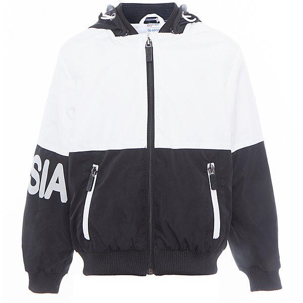 Куртка для мальчика BOOM by OrbyВерхняя одежда<br>Характеристики товара:<br><br>• цвет: чёрный/белый<br>• состав: верх - Pronto pu, подкладка - полиэстер, флис, без утеплителя<br>• температурный режим: от +5°до +15°С<br>• демисезон<br>• капюшон<br>• застежка - молния<br>• эластичные манжеты<br>• принт<br>• карманы<br>• комфортная посадка<br>• страна производства: Российская Федерация<br>• страна бренда: Российская Федерация<br>• коллекция: весна-лето 2017<br><br>Такая куртка - универсальный вариант для теплого межсезонья с постоянно меняющейся погодой. Эта модель - модная и удобная одновременно! Изделие отличается стильным ярким дизайном. Куртка хорошо сидит по фигуре, отлично сочетается с различным низом. Вещь была разработана специально для детей.<br><br>Куртку для мальчика для девочки от бренда BOOM by Orby можно купить в нашем интернет-магазине.<br>Ширина мм: 356; Глубина мм: 10; Высота мм: 245; Вес г: 519; Цвет: белый; Возраст от месяцев: 60; Возраст до месяцев: 72; Пол: Мужской; Возраст: Детский; Размер: 116,158,152,146,140,134,128,122; SKU: 5342910;