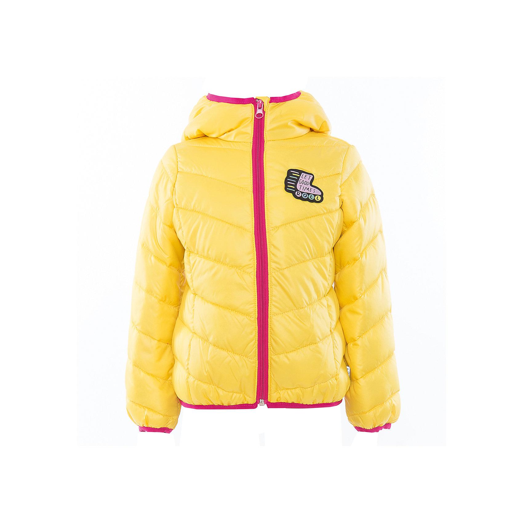 Куртка для девочки BOOM by OrbyСицилия<br>Характеристики товара:<br><br>• цвет: желтый<br>• состав: 100% полиэстер<br>• верхняя ткань: Таффета oil cire PU<br>• подкладка: ПЭ пуходержащий<br>• наполнитель: Эко-синтепон 150 г/м2<br>• температурный режим: от +10°до 0°С<br>• прочный материал<br>• капюшон (не отстегивается)<br>• застежка - молния<br>• демисезонная<br>• стеганая<br>• декорирована нашивкой<br>• комфортная посадка<br>• страна производства: Российская Федерация<br>• страна бренда: Российская Федерация<br>• коллекция: весна-лето 2017<br><br>Одежда для детей должна быть особо комфортной! Такая курточка - отличный вариант для межсезонья с постоянно меняющейся погодой. Эта модель - модная и удобная одновременно! Изделие отличается стильным ярким дизайном. Куртка дополнена мягкой подкладкой. Вещь была разработана специально для детей.<br><br>Одежда от российского бренда BOOM by Orby уже завоевала популярностью у многих детей и их родителей. Вещи, выпускаемые компанией, качественные, продуманные и очень удобные. Для производства коллекций используются только безопасные для детей материалы. Спешите приобрести модели из новой коллекции Весна-лето 2017! <br><br>Куртку для девочки от бренда BOOM by Orby можно купить в нашем интернет-магазине.<br><br>Ширина мм: 356<br>Глубина мм: 10<br>Высота мм: 245<br>Вес г: 519<br>Цвет: желтый<br>Возраст от месяцев: 72<br>Возраст до месяцев: 84<br>Пол: Женский<br>Возраст: Детский<br>Размер: 122,158,104,110,98,116,128,134,140,146,152<br>SKU: 5342977