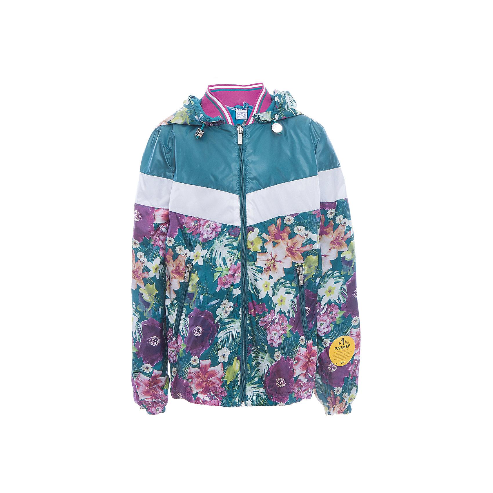 Куртка для девочки BOOM by OrbyВерхняя одежда<br>Характеристики товара:<br><br>• цвет: синий принт<br>• состав: верх - таффета, подкладка - поликоттон, полиэстер, без утеплителя<br>• карманы<br>• застежка - молния<br>• капюшон с утяжкой<br>• украшена принтом<br>• эластичные манжеты<br>• комфортная посадка<br>• страна производства: Российская Федерация<br>• страна бренда: Российская Федерация<br>• коллекция: весна-лето 2017<br><br>Легкая куртка - универсальный вариант и для прохладного летнего вечера, и для теплого межсезонья. Эта модель - модная и удобная одновременно! Изделие отличается стильным ярким дизайном. Куртка хорошо сидит по фигуре, отлично сочетается с различным низом. Вещь была разработана специально для детей.<br><br>Куртку для девочки от бренда BOOM by Orby можно купить в нашем интернет-магазине.<br><br>Ширина мм: 356<br>Глубина мм: 10<br>Высота мм: 245<br>Вес г: 519<br>Цвет: голубой<br>Возраст от месяцев: 108<br>Возраст до месяцев: 120<br>Пол: Женский<br>Возраст: Детский<br>Размер: 140,128,134,152,110,146,116,158,122<br>SKU: 5343067
