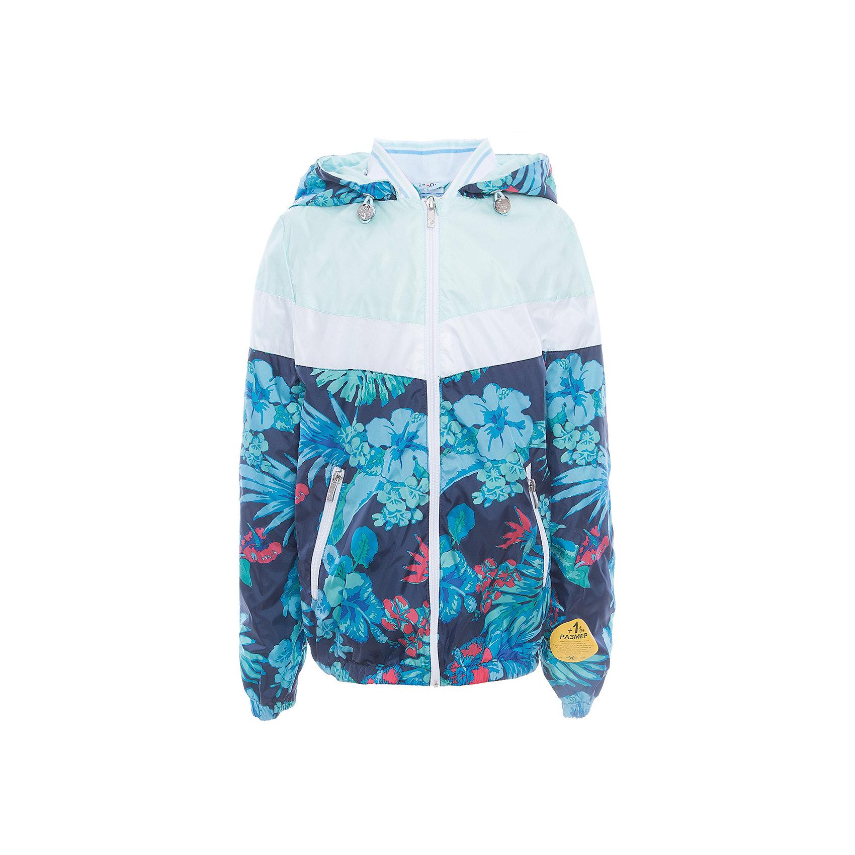 Куртка для девочки BOOM by OrbyВерхняя одежда<br>Характеристики товара:<br><br>• цвет: голубой принт<br>• состав: верх - таффета, подкладка - поликоттон, полиэстер, без утеплителя<br>• температурный режим: от 0 до +15°С<br>• карманы<br>• застежка - молния<br>• капюшон с утяжкой<br>• украшена принтом<br>• эластичные манжеты<br>• комфортная посадка<br>• страна производства: Российская Федерация<br>• страна бренда: Российская Федерация<br>• коллекция: весна-лето 2017<br><br>Легкая куртка - универсальный вариант и для прохладного летнего вечера, и для теплого межсезонья. Эта модель - модная и удобная одновременно! Изделие отличается стильным ярким дизайном. Куртка хорошо сидит по фигуре, отлично сочетается с различным низом. Вещь была разработана специально для детей.<br><br>Куртку для девочки от бренда BOOM by Orby можно купить в нашем интернет-магазине.<br><br>Ширина мм: 356<br>Глубина мм: 10<br>Высота мм: 245<br>Вес г: 519<br>Цвет: синий<br>Возраст от месяцев: 144<br>Возраст до месяцев: 156<br>Пол: Женский<br>Возраст: Детский<br>Размер: 158,116,110,122,128,134,140,146,152<br>SKU: 5343077