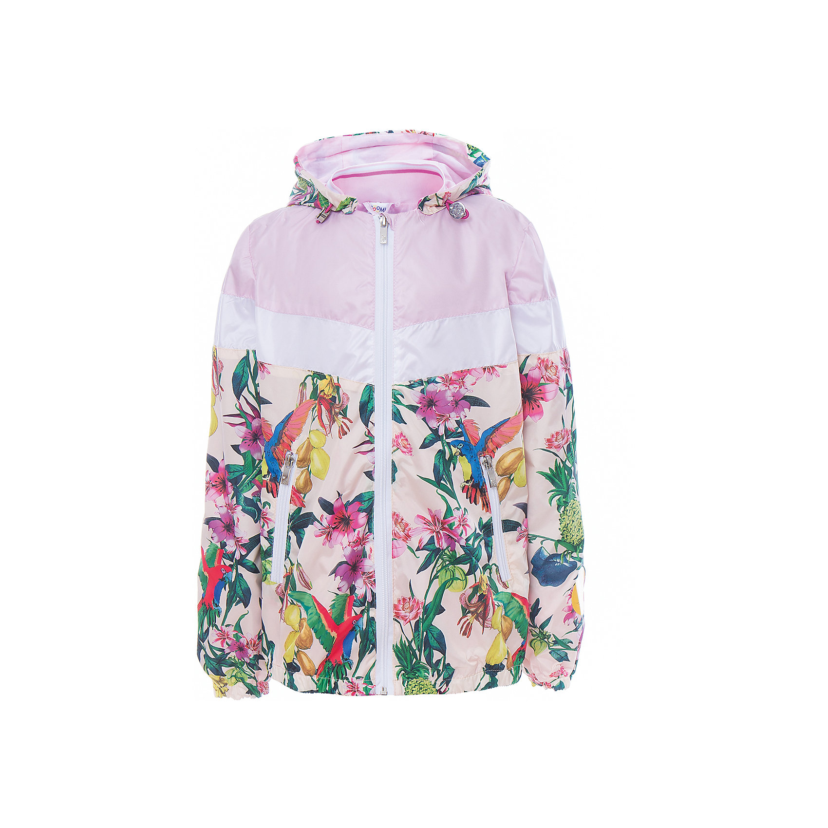 Куртка для девочки BOOM by OrbyВесенняя капель<br>Характеристики товара:<br><br>• цвет: розовый принт<br>• состав: верх - таффета, подкладка - поликоттон, полиэстер, без утеплителя<br>• температурный режим: от 0 до +15°С<br>• карманы<br>• застежка - молния<br>• капюшон с утяжкой<br>• украшена принтом<br>• эластичные манжеты<br>• комфортная посадка<br>• страна производства: Российская Федерация<br>• страна бренда: Российская Федерация<br>• коллекция: весна-лето 2017<br><br>Легкая куртка - универсальный вариант и для прохладного летнего вечера, и для теплого межсезонья. Эта модель - модная и удобная одновременно! Изделие отличается стильным ярким дизайном. Куртка хорошо сидит по фигуре, отлично сочетается с различным низом. Вещь была разработана специально для детей.<br><br>Куртку для девочки от бренда BOOM by Orby можно купить в нашем интернет-магазине.<br><br>Ширина мм: 356<br>Глубина мм: 10<br>Высота мм: 245<br>Вес г: 519<br>Цвет: белый<br>Возраст от месяцев: 144<br>Возраст до месяцев: 156<br>Пол: Женский<br>Возраст: Детский<br>Размер: 158,104,86,92,98,110,116,122,128,134,140,146,152<br>SKU: 5343087