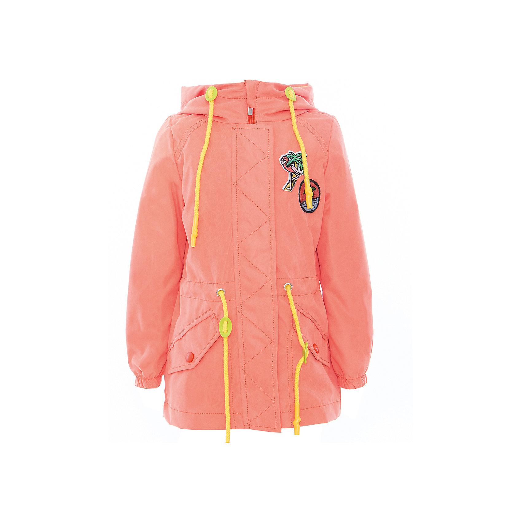 Куртка-парка для девочки BOOM by OrbyВерхняя одежда<br>Характеристики товара:<br><br>• цвет: оранжевый<br>• верх - 100% полиэстер; подкладка - 70% полиэстер, 30% вискоза; 80% полиэстер, 30% хлопок<br>• материал подклада/внутренней отделки: полиэстер, вискоза, хлопок<br>• температурный режим: от 0 до +15 C<br>• карманы<br>• застежка - молния<br>• прозрачный козырек на капюшоне<br>• защита от ветра и промокания<br>• капюшон не отстёгивается<br>• планка от ветра<br>• шнурок на талии<br>• эластичные манжеты<br>• комфортная посадка<br>• страна производства: Российская Федерация<br>• страна бренда: Российская Федерация<br>• коллекция: весна-лето 2017<br><br>Куртка-парка - универсальный вариант и для прохладного летнего вечера, и для теплого межсезонья. Эта модель - модная и удобная одновременно! Изделие отличается стильным ярким дизайном. Куртка хорошо сидит по фигуре, отлично сочетается с различным низом. Вещь была разработана специально для детей.<br><br>Одежда от российского бренда BOOM by Orby уже завоевала популярностью у многих детей и их родителей. Вещи, выпускаемые компанией, качественные, продуманные и очень удобные. Для производства коллекций используются только безопасные для детей материалы. Спешите приобрести модели из новой коллекции Весна-лето 2017! <br><br>Куртку-парку для девочки от бренда BOOM by Orby можно купить в нашем интернет-магазине.<br><br>Ширина мм: 356<br>Глубина мм: 10<br>Высота мм: 245<br>Вес г: 519<br>Цвет: оранжевый<br>Возраст от месяцев: 12<br>Возраст до месяцев: 18<br>Пол: Женский<br>Возраст: Детский<br>Размер: 86,140,146,152,158,164,170,104,92,98,110,116,122,128,134<br>SKU: 5343133