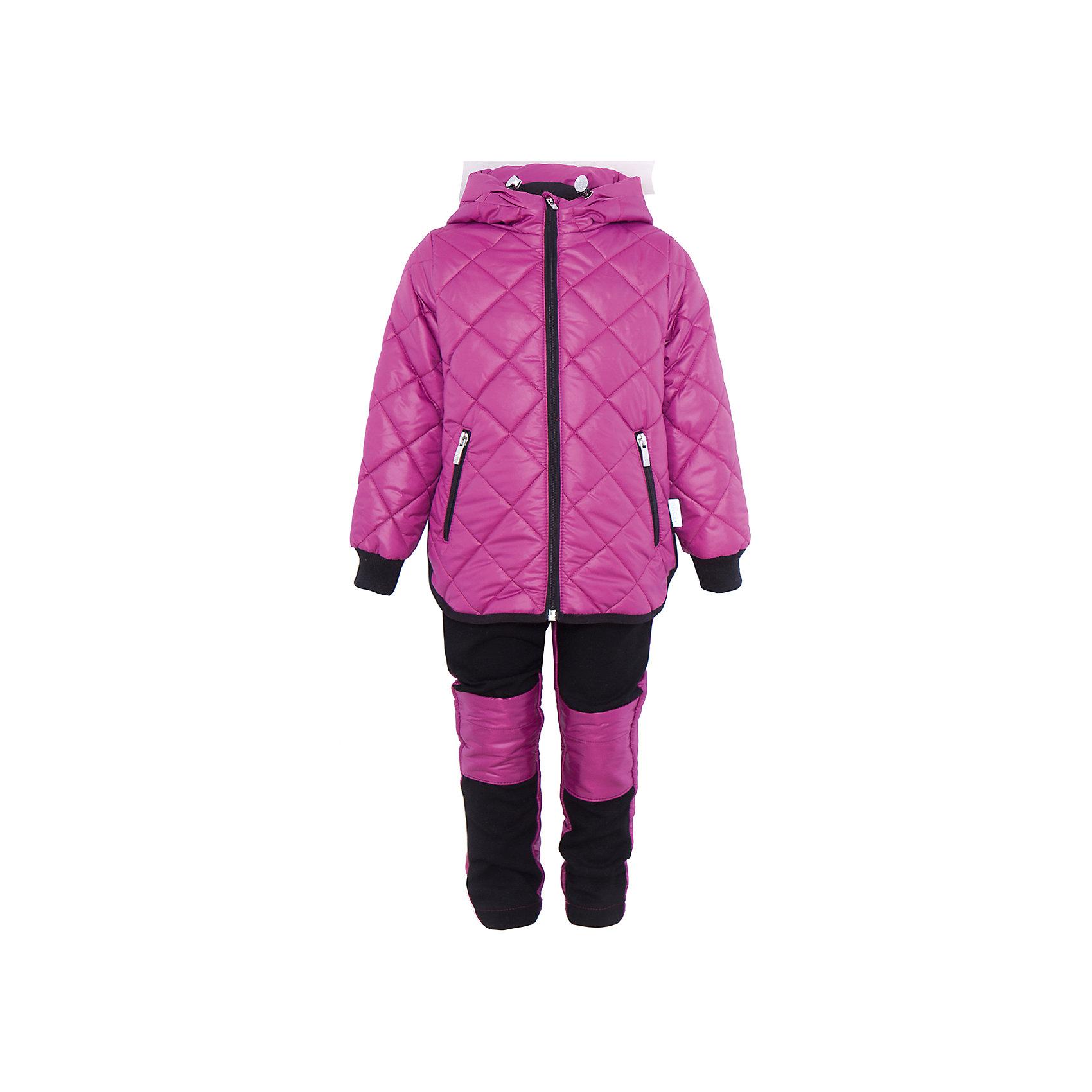 Комплект для девочки BOOM by OrbyВерхняя одежда<br>Характеристики товара:<br><br>• цвет: розовый/черный<br>• состав: 100% полиэстер<br>• курточка: верх - таффета, подкладка - поликоттон, полиэстер, утеплитель: Flexy Fiber 150 г/м2<br>• брюки: верх - костюмный трикотаж с начесом, подкладка - флис<br>• комплектация: куртка, брюки<br>• температурный режим: от -5 С° до +10 С° <br>• капюшон (не отстегивается)<br>• карманы на молнии<br>• застежка - молния<br>• убирающаяся корона на капюшоне<br>• накладки на коленях<br>• куртка декорирована вышивкой<br>• эластичные манжеты<br>• комфортная посадка<br>• страна производства: Российская Федерация<br>• страна бренда: Российская Федерация<br>• коллекция: весна-лето 2017<br><br>Такой комплект - универсальный вариант для межсезонья с постоянно меняющейся погодой. Эта модель - модная и удобная одновременно! Изделие отличается стильным ярким дизайном. Куртка и брюки хорошо сидят по фигуре, отлично сочетается с различной обувью. Модель была разработана специально для детей.<br><br>Одежда от российского бренда BOOM by Orby уже завоевала популярностью у многих детей и их родителей. Вещи, выпускаемые компанией, качественные, продуманные и очень удобные. Для производства коллекций используются только безопасные для детей материалы. Спешите приобрести модели из новой коллекции Весна-лето 2017! <br><br>Комплект для девочки от бренда BOOM by Orby можно купить в нашем интернет-магазине.<br><br>Ширина мм: 356<br>Глубина мм: 10<br>Высота мм: 245<br>Вес г: 519<br>Цвет: фиолетовый<br>Возраст от месяцев: 36<br>Возраст до месяцев: 48<br>Пол: Женский<br>Возраст: Детский<br>Размер: 104,122,86,92,98,110,116<br>SKU: 5343149