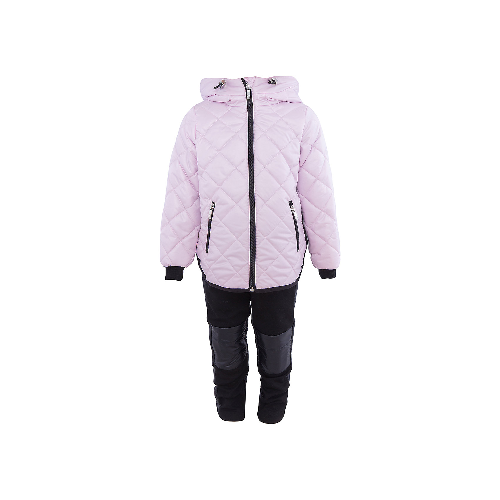 Комплект для девочки BOOM by OrbyВерхняя одежда<br>Характеристики товара:<br><br>• цвет: светло-розовый/черный<br>• состав: 100% полиэстер<br>• курточка: верх - таффета, подкладка - поликоттон, полиэстер, утеплитель: Flexy Fiber 150 г/м2<br>• брюки: верх - костюмный трикотаж с начесом, подкладка - флис<br>• комплектация: куртка, брюки<br>• температурный режим: от -5 С° до +10 С° <br>• капюшон (не отстегивается)<br>• карманы на молнии<br>• застежка - молния<br>• убирающаяся корона на капюшоне<br>• накладки на коленях<br>• куртка декорирована вышивкой<br>• эластичные манжеты<br>• комфортная посадка<br>• страна производства: Российская Федерация<br>• страна бренда: Российская Федерация<br>• коллекция: весна-лето 2017<br><br>Такой комплект - универсальный вариант для межсезонья с постоянно меняющейся погодой. Эта модель - модная и удобная одновременно! Изделие отличается стильным ярким дизайном. Куртка и брюки хорошо сидят по фигуре, отлично сочетается с различной обувью. Модель была разработана специально для детей.<br><br>Одежда от российского бренда BOOM by Orby уже завоевала популярностью у многих детей и их родителей. Вещи, выпускаемые компанией, качественные, продуманные и очень удобные. Для производства коллекций используются только безопасные для детей материалы. Спешите приобрести модели из новой коллекции Весна-лето 2017! <br><br>Комплект для девочки от бренда BOOM by Orby можно купить в нашем интернет-магазине.<br><br>Ширина мм: 356<br>Глубина мм: 10<br>Высота мм: 245<br>Вес г: 519<br>Цвет: розовый<br>Возраст от месяцев: 36<br>Возраст до месяцев: 48<br>Пол: Женский<br>Возраст: Детский<br>Размер: 104,122,86,92,98,110,116<br>SKU: 5343157