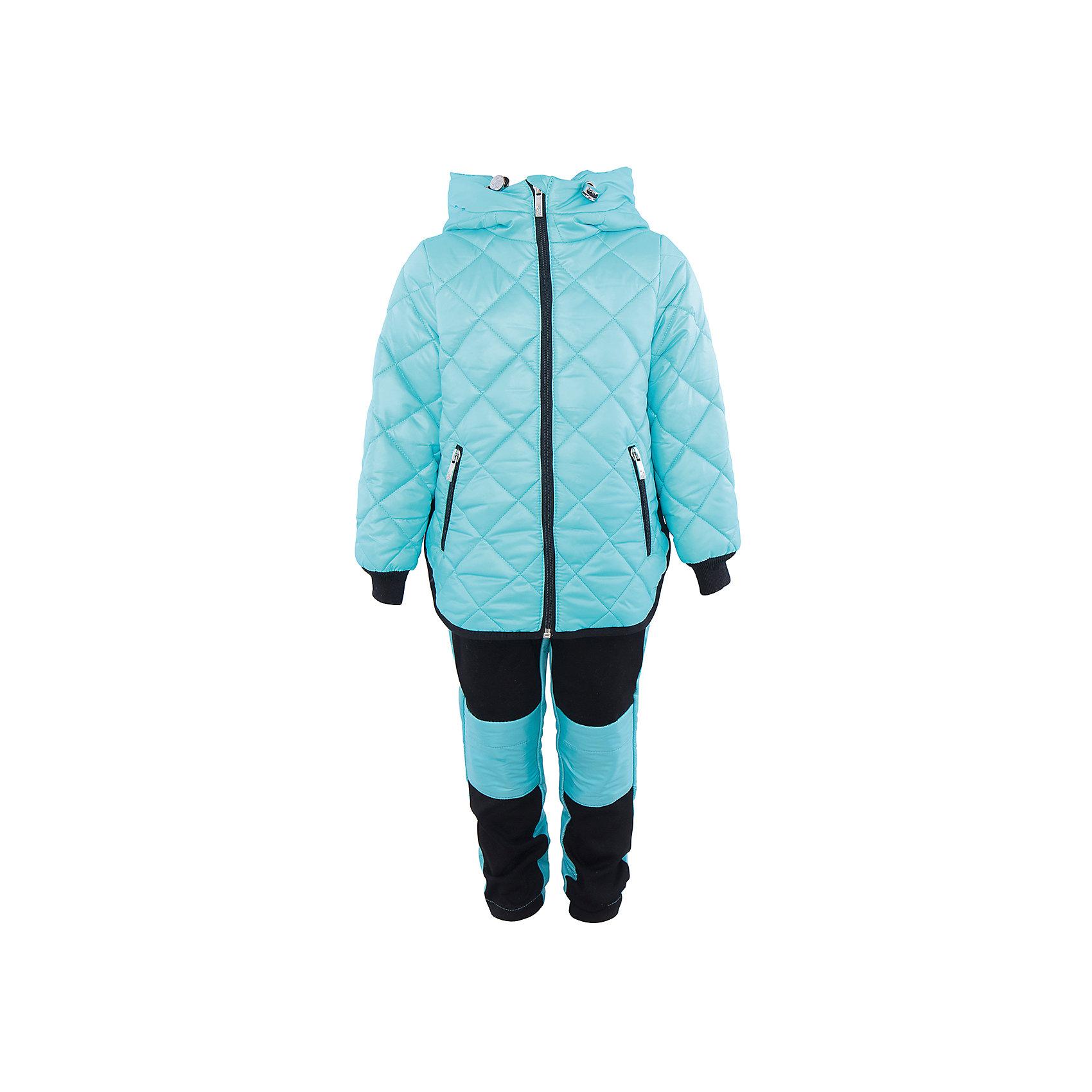 Комплект для девочки BOOM by OrbyВерхняя одежда<br>Характеристики товара:<br><br>• цвет: голубой/черный<br>• состав: 100% полиэстер<br>• курточка: верх - таффета, подкладка - поликоттон, полиэстер, утеплитель: Flexy Fiber 150 г/м2<br>• брюки: верх - костюмный трикотаж с начесом, подкладка - флис<br>• комплектация: куртка, брюки<br>• температурный режим: от -5 С° до +10 С° <br>• капюшон (не отстегивается)<br>• карманы на молнии<br>• застежка - молния<br>• убирающаяся корона на капюшоне<br>• накладки на коленях<br>• куртка декорирована вышивкой<br>• эластичные манжеты<br>• комфортная посадка<br>• страна производства: Российская Федерация<br>• страна бренда: Российская Федерация<br>• коллекция: весна-лето 2017<br><br>Такой комплект - универсальный вариант для межсезонья с постоянно меняющейся погодой. Эта модель - модная и удобная одновременно! Изделие отличается стильным ярким дизайном. Куртка и брюки хорошо сидят по фигуре, отлично сочетается с различной обувью. Модель была разработана специально для детей.<br><br>Одежда от российского бренда BOOM by Orby уже завоевала популярностью у многих детей и их родителей. Вещи, выпускаемые компанией, качественные, продуманные и очень удобные. Для производства коллекций используются только безопасные для детей материалы. Спешите приобрести модели из новой коллекции Весна-лето 2017! <br><br>Комплект для девочки от бренда BOOM by Orby можно купить в нашем интернет-магазине.<br><br>Ширина мм: 356<br>Глубина мм: 10<br>Высота мм: 245<br>Вес г: 519<br>Цвет: голубой<br>Возраст от месяцев: 12<br>Возраст до месяцев: 18<br>Пол: Женский<br>Возраст: Детский<br>Размер: 86,92,98,110,116,122,104<br>SKU: 5343165