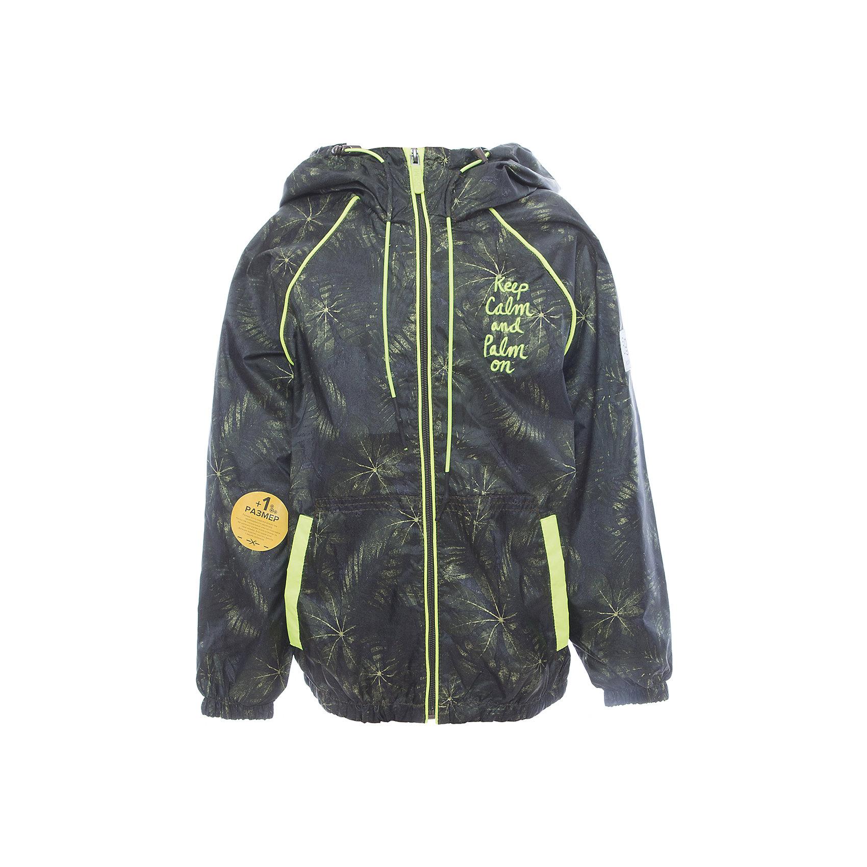 Куртка для мальчика BOOM by OrbyВерхняя одежда<br>Характеристики товара:<br><br>• цвет: зеленый<br>• состав: верх - таффета, подкладка - поликоттон, полиэстер, без утеплителя<br>• температурный режим: от +10° до +20°С<br>• карманы<br>• застежка - молния<br>• капюшон с утяжкой<br>• украшена принтом<br>• эластичные манжеты<br>• комфортная посадка<br>• страна производства: Российская Федерация<br>• страна бренда: Российская Федерация<br>• коллекция: весна-лето 2017<br><br>Легкая куртка - универсальный вариант и для прохладного летнего вечера, и для теплого межсезонья. Эта модель - модная и удобная одновременно! Изделие отличается стильным ярким дизайном. Куртка хорошо сидит по фигуре, отлично сочетается с различным низом. Вещь была разработана специально для детей.<br><br>Куртку для мальчика от бренда BOOM by Orby можно купить в нашем интернет-магазине.<br><br>Ширина мм: 356<br>Глубина мм: 10<br>Высота мм: 245<br>Вес г: 519<br>Цвет: зеленый<br>Возраст от месяцев: 48<br>Возраст до месяцев: 60<br>Пол: Мужской<br>Возраст: Детский<br>Размер: 110,158,116,122,128,134,140,146,152<br>SKU: 5343308