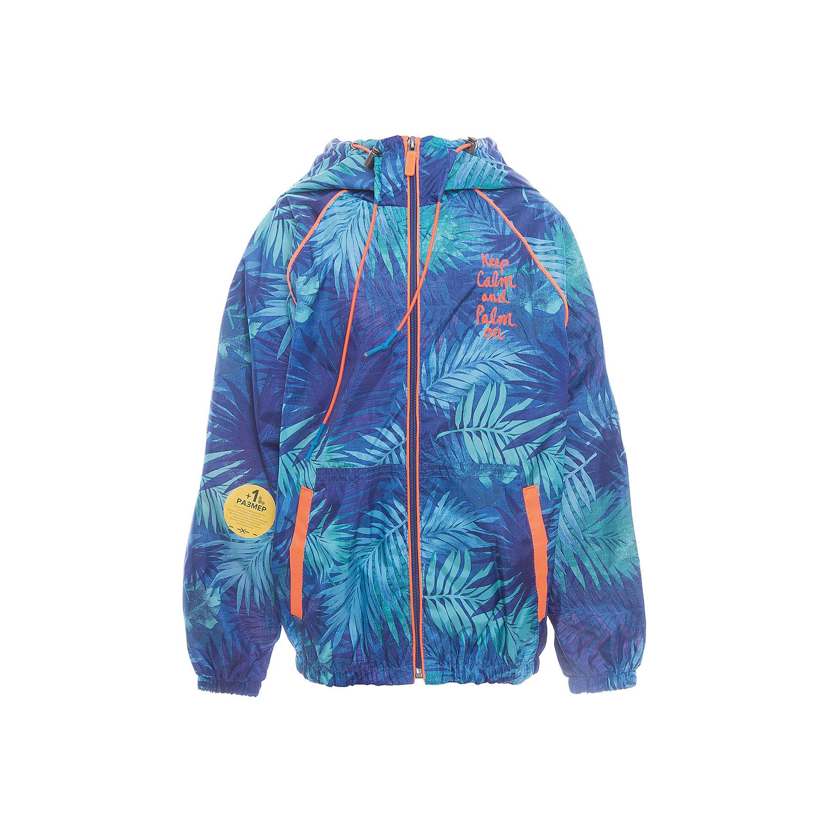 Куртка для мальчика BOOM by OrbyВерхняя одежда<br>Характеристики товара:<br><br>• цвет: синий<br>• состав: верх - таффета, подкладка - поликоттон, полиэстер, без утеплителя<br>• температурный режим: от +10° до +20°С<br>• карманы<br>• застежка - молния<br>• капюшон с утяжкой<br>• украшена принтом<br>• эластичные манжеты<br>• комфортная посадка<br>• страна производства: Российская Федерация<br>• страна бренда: Российская Федерация<br>• коллекция: весна-лето 2017<br><br>Легкая куртка - универсальный вариант и для прохладного летнего вечера, и для теплого межсезонья. Эта модель - модная и удобная одновременно! Изделие отличается стильным ярким дизайном. Куртка хорошо сидит по фигуре, отлично сочетается с различным низом. Вещь была разработана специально для детей.<br><br>Куртку для мальчика от бренда BOOM by Orby можно купить в нашем интернет-магазине.<br><br>Ширина мм: 356<br>Глубина мм: 10<br>Высота мм: 245<br>Вес г: 519<br>Цвет: синий<br>Возраст от месяцев: 48<br>Возраст до месяцев: 60<br>Пол: Мужской<br>Возраст: Детский<br>Размер: 110,146,152,158,116,86,122,92,128,98,134,140<br>SKU: 5343318