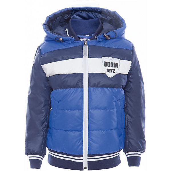 Куртка для мальчика BOOM by OrbyВерхняя одежда<br>Характеристики товара:<br><br>• цвет: синий<br>• состав: верх - таффета, болонь, подкладка - поликоттон, полиэстер, утеплитель: Flexy Fiber 150 г/м2<br>• температурный режим: от -5 С° до +10 С° <br>• капюшон<br>• застежка - молния<br>• эластичные манжеты<br>• стеганая<br>• декорирована нашивками<br>• комфортная посадка<br>• страна производства: Российская Федерация<br>• страна бренда: Российская Федерация<br>• коллекция: весна-лето 2017<br><br>Куртка-бомбер - универсальный вариант для межсезонья с постоянно меняющейся погодой. Эта модель - модная и удобная одновременно! Изделие отличается стильным ярким дизайном. Куртка хорошо сидит по фигуре, отлично сочетается с различным низом. Вещь была разработана специально для детей.<br><br>Одежда от российского бренда BOOM by Orby уже завоевала популярностью у многих детей и их родителей. Вещи, выпускаемые компанией, качественные, продуманные и очень удобные. Для производства коллекций используются только безопасные для детей материалы. Спешите приобрести модели из новой коллекции Весна-лето 2017! <br><br>Куртку для мальчика от бренда BOOM by Orby можно купить в нашем интернет-магазине.<br><br>Ширина мм: 356<br>Глубина мм: 10<br>Высота мм: 245<br>Вес г: 519<br>Цвет: синий<br>Возраст от месяцев: 12<br>Возраст до месяцев: 18<br>Пол: Мужской<br>Возраст: Детский<br>Размер: 86,164,158,152,146,140,134,128,122,116,110,98,92,104,170<br>SKU: 5343422