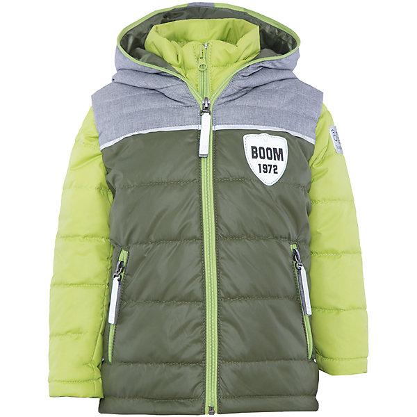 Куртка для мальчика BOOM by OrbyВерхняя одежда<br>Характеристики товара:<br><br>• цвет: зеленый/салатовый<br>• состав: 100% полиэстер<br>• курточка: верх - болонь, подкладка - поликоттон, полиэстер, утеплитель: Flexy Fiber 100 г/м2<br>• жилет: верх - таффета, подкладка - полиэстер, утеплитель: Flexy Fiber 100 г/м2<br>• комплектация: куртка, жилет<br>• температурный режим: от +15°до +5°С <br>• капюшон (не отстегивается)<br>• воротник-стойка<br>• застежка - молния<br>• модель-трансформер<br>• стеганая<br>• комфортная посадка<br>• страна производства: Российская Федерация<br>• страна бренда: Российская Федерация<br>• коллекция: весна-лето 2017<br><br>Куртка-трансформер с жилетом - универсальный вариант для межсезонья с постоянно меняющейся погодой. Эта модель - модная и удобная одновременно! Изделие отличается стильным ярким дизайном. Куртка хорошо сидит по фигуре, отлично сочетается с различным низом. Вещь была разработана специально для детей.<br><br>Одежда от российского бренда BOOM by Orby уже завоевала популярностью у многих детей и их родителей. Вещи, выпускаемые компанией, качественные, продуманные и очень удобные. Для производства коллекций используются только безопасные для детей материалы. Спешите приобрести модели из новой коллекции Весна-лето 2017! <br><br>Куртку для мальчика от бренда BOOM by Orby можно купить в нашем интернет-магазине.<br>Ширина мм: 356; Глубина мм: 10; Высота мм: 245; Вес г: 519; Цвет: зеленый; Возраст от месяцев: 60; Возраст до месяцев: 72; Пол: Мужской; Возраст: Детский; Размер: 116,128,134,140,146,152,158,104,110,98,122; SKU: 5343454;