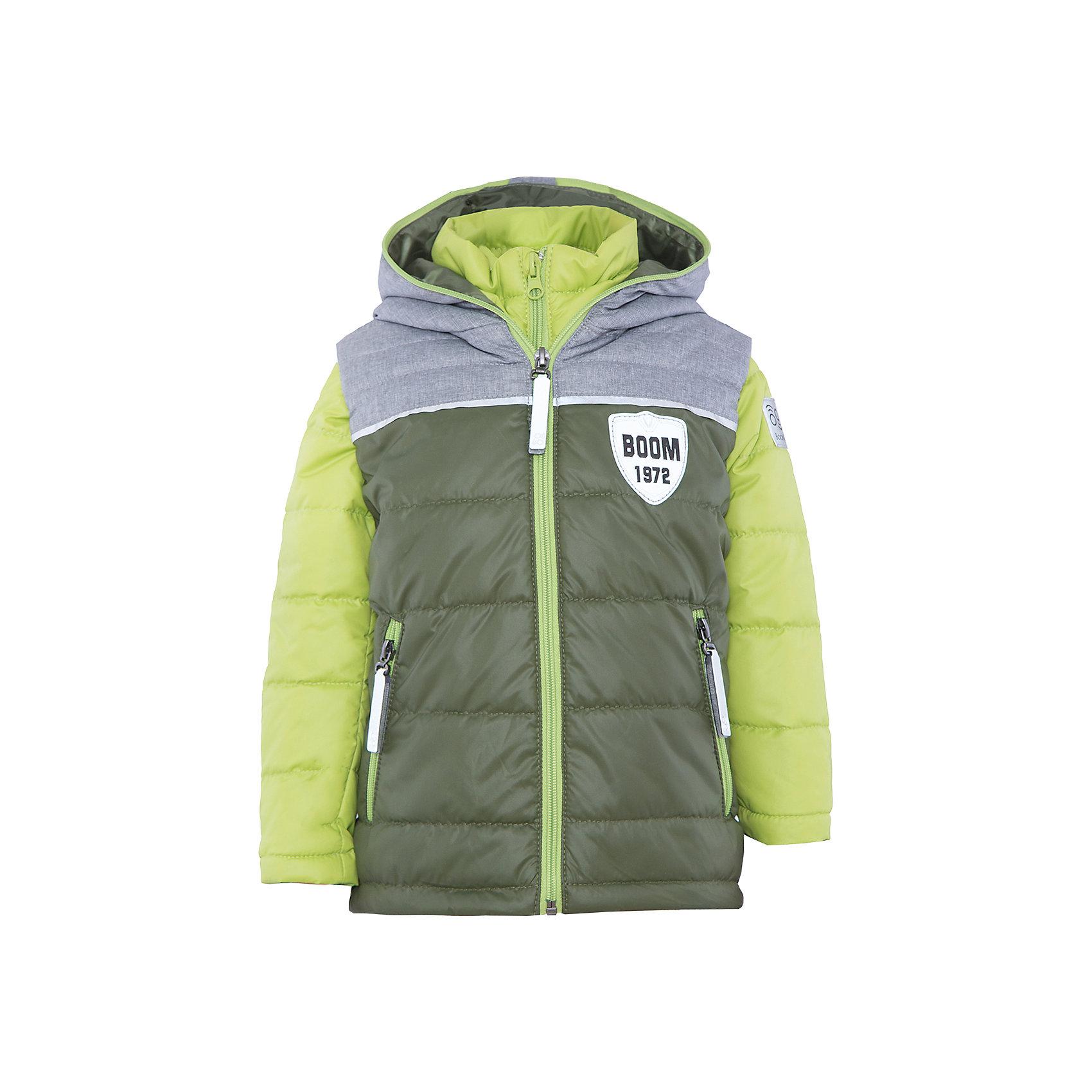 Куртка для мальчика BOOM by OrbyВерхняя одежда<br>Характеристики товара:<br><br>• цвет: зеленый/салатовый<br>• состав: 100% полиэстер<br>• курточка: верх - болонь, подкладка - поликоттон, полиэстер, утеплитель: Flexy Fiber 100 г/м2<br>• жилет: верх - таффета, подкладка - полиэстер, утеплитель: Flexy Fiber 100 г/м2<br>• комплектация: куртка, жилет<br>• температурный режим: от +15°до +5°С <br>• капюшон (не отстегивается)<br>• воротник-стойка<br>• застежка - молния<br>• модель-трансформер<br>• стеганая<br>• комфортная посадка<br>• страна производства: Российская Федерация<br>• страна бренда: Российская Федерация<br>• коллекция: весна-лето 2017<br><br>Куртка-трансформер с жилетом - универсальный вариант для межсезонья с постоянно меняющейся погодой. Эта модель - модная и удобная одновременно! Изделие отличается стильным ярким дизайном. Куртка хорошо сидит по фигуре, отлично сочетается с различным низом. Вещь была разработана специально для детей.<br><br>Одежда от российского бренда BOOM by Orby уже завоевала популярностью у многих детей и их родителей. Вещи, выпускаемые компанией, качественные, продуманные и очень удобные. Для производства коллекций используются только безопасные для детей материалы. Спешите приобрести модели из новой коллекции Весна-лето 2017! <br><br>Куртку для мальчика от бренда BOOM by Orby можно купить в нашем интернет-магазине.<br><br>Ширина мм: 356<br>Глубина мм: 10<br>Высота мм: 245<br>Вес г: 519<br>Цвет: зеленый<br>Возраст от месяцев: 24<br>Возраст до месяцев: 36<br>Пол: Мужской<br>Возраст: Детский<br>Размер: 158,104,110,116,122,128,134,140,146,152,98<br>SKU: 5343454