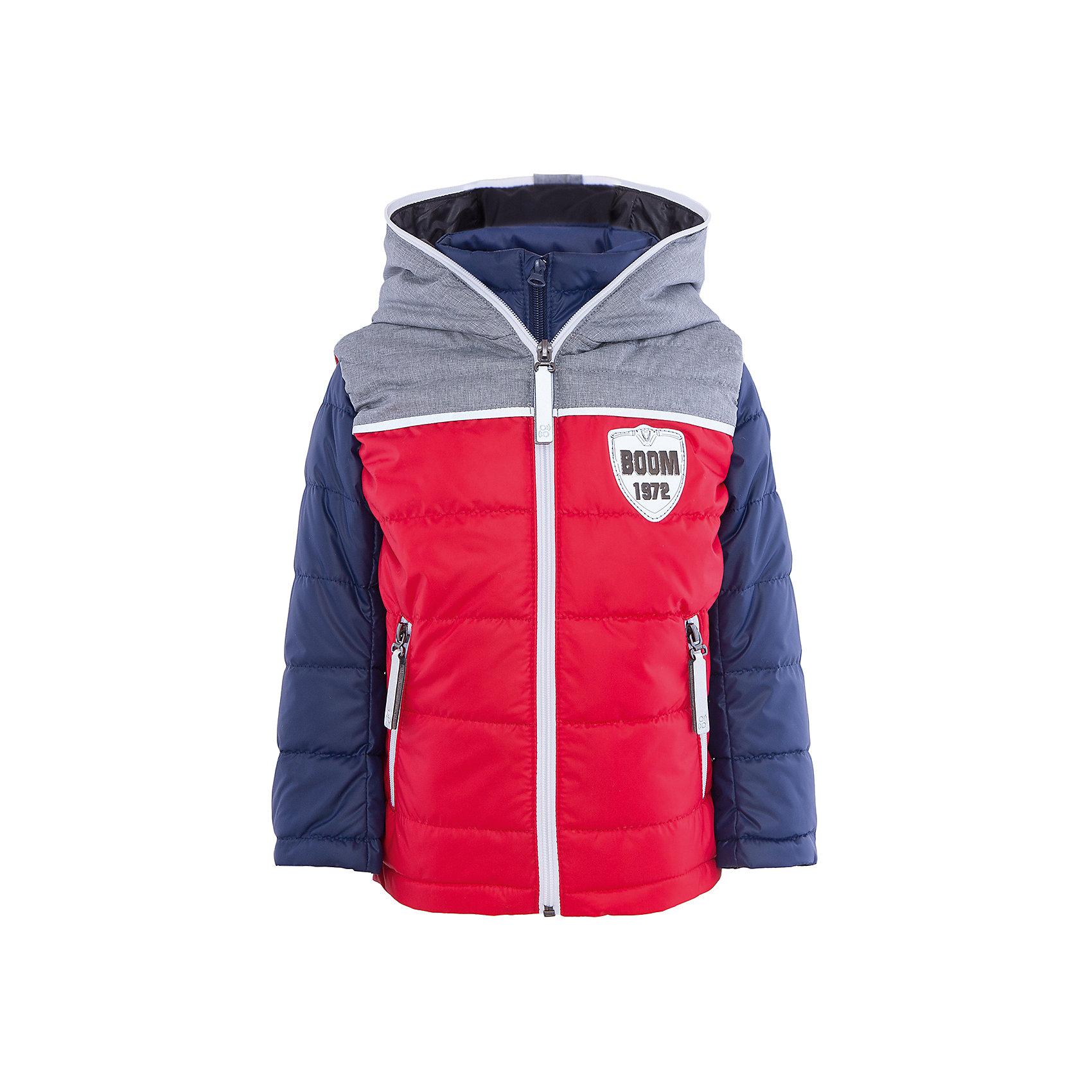 Куртка для мальчика BOOM by OrbyВерхняя одежда<br>Характеристики товара:<br><br>• цвет: красный/синий<br>• состав: 100% полиэстер<br>• курточка: верх - болонь, подкладка - поликоттон, полиэстер, утеплитель: Flexy Fiber 100 г/м2<br>• жилет: верх - таффета, подкладка - полиэстер, утеплитель: Flexy Fiber 100 г/м2<br>• комплектация: куртка, жилет<br>• температурный режим: от +15°до +5°С <br>• капюшон (не отстегивается)<br>• воротник-стойка<br>• застежка - молния<br>• модель-трансформер<br>• стеганая<br>• комфортная посадка<br>• страна производства: Российская Федерация<br>• страна бренда: Российская Федерация<br>• коллекция: весна-лето 2017<br><br>Куртка-трансформер с жилетом - универсальный вариант для межсезонья с постоянно меняющейся погодой. Эта модель - модная и удобная одновременно! Изделие отличается стильным ярким дизайном. Куртка хорошо сидит по фигуре, отлично сочетается с различным низом. Вещь была разработана специально для детей.<br><br>Одежда от российского бренда BOOM by Orby уже завоевала популярностью у многих детей и их родителей. Вещи, выпускаемые компанией, качественные, продуманные и очень удобные. Для производства коллекций используются только безопасные для детей материалы. Спешите приобрести модели из новой коллекции Весна-лето 2017! <br><br>Куртку для мальчика от бренда BOOM by Orby можно купить в нашем интернет-магазине.<br><br>Ширина мм: 356<br>Глубина мм: 10<br>Высота мм: 245<br>Вес г: 519<br>Цвет: синий<br>Возраст от месяцев: 120<br>Возраст до месяцев: 132<br>Пол: Мужской<br>Возраст: Детский<br>Размер: 146,158,104,110,98,116,122,128,134,140,152<br>SKU: 5343466
