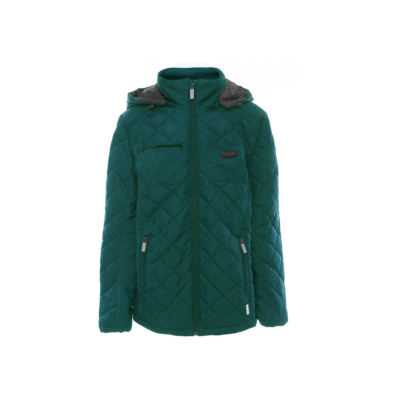 Куртка для мальчика BOOM by OrbyВерхняя одежда<br>Характеристики товара:<br><br>• цвет: зелёный<br>• состав: верх - таффета, подкладка - поликоттон, полиэстер, утеплитель: Flexy Fiber 150 г/м2<br>• карманы<br>• температурный режим: от -5 С° до +10 С° <br>• капюшон<br>• застежка - молния<br>• воротник-стойка<br>• комфортная посадка<br>• страна производства: Российская Федерация<br>• страна бренда: Российская Федерация<br>• коллекция: весна-лето 2017<br><br>Такая куртка- отличный вариант для походов в школу в межсезонье с его постоянно меняющейся погодой. Эта модель - модная и удобная одновременно! Изделие отличается стильным элегантным дизайном. Куртка хорошо сидит по фигуре, отлично сочетается с различным низом. Вещь была разработана специально для детей.<br><br>Одежда от российского бренда BOOM by Orby уже завоевала популярностью у многих детей и их родителей. Вещи, выпускаемые компанией, качественные, продуманные и очень удобные. Для производства коллекций используются только безопасные для детей материалы. Спешите приобрести модели из новой коллекции Весна-лето 2017! <br><br>Куртку для мальчика от бренда BOOM by Orby можно купить в нашем интернет-магазине.<br><br>Ширина мм: 356<br>Глубина мм: 10<br>Высота мм: 245<br>Вес г: 519<br>Цвет: зеленый<br>Возраст от месяцев: 96<br>Возраст до месяцев: 108<br>Пол: Мужской<br>Возраст: Детский<br>Размер: 134,128,122,116,170,164,158,152,146,140<br>SKU: 5343489