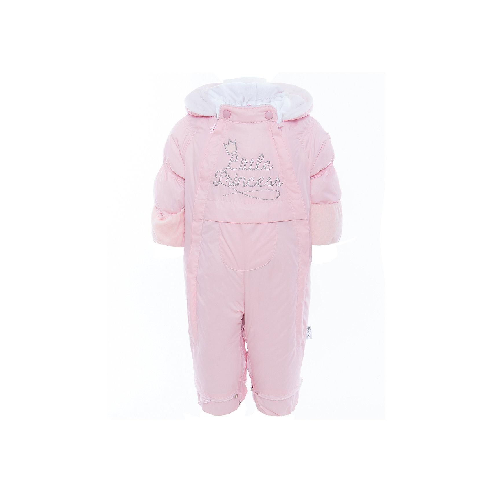 Комбинезон детский BOOM by OrbyВерхняя одежда<br>Характеристики товара:<br><br>• цвет: розовый<br>• состав: верх - болонь, подкладка - поликоттон, утеплитель: эко-синтепон 150 г/м2<br>• температурный режим: от -5 С° до +10 С° <br>• капюшон<br>• застежка - молния<br>• планка от ветра<br>• отделка велюром<br>• декорирована вышивкой<br>• комфортная посадка<br>• страна производства: Российская Федерация<br>• страна бренда: Российская Федерация<br>• коллекция: весна-лето 2017<br><br>Одежда для самых маленьких должна быть особо комфортной! Такой комбинезон - отличный вариант для межсезонья с постоянно меняющейся погодой. Эта модель - модная и удобная одновременно! Изделие отличается стильным ярким дизайном. Комбинезон дополнен мягкой подкладкой. Вещь была разработана специально для малышей.<br><br>Одежда от российского бренда BOOM by Orby уже завоевала популярностью у многих детей и их родителей. Вещи, выпускаемые компанией, качественные, продуманные и очень удобные. Для производства коллекций используются только безопасные для детей материалы. Спешите приобрести модели из новой коллекции Весна-лето 2017! <br><br>Комбинезон детский от бренда BOOM by Orby можно купить в нашем интернет-магазине.<br><br>Ширина мм: 356<br>Глубина мм: 10<br>Высота мм: 245<br>Вес г: 519<br>Цвет: розовый<br>Возраст от месяцев: 6<br>Возраст до месяцев: 9<br>Пол: Унисекс<br>Возраст: Детский<br>Размер: 74,62,68<br>SKU: 5343541