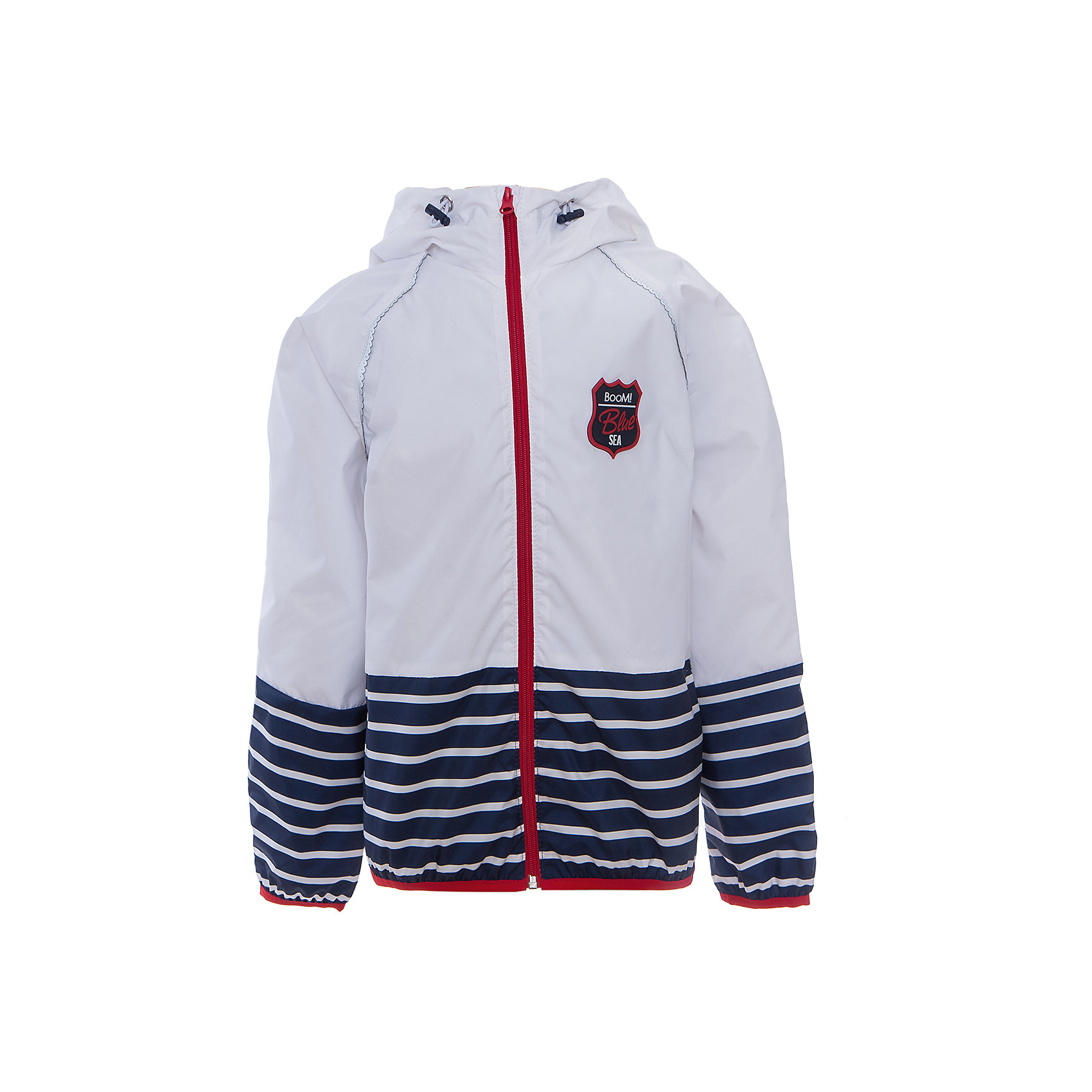 Куртка для девочки BOOM by OrbyВерхняя одежда<br>Характеристики товара:<br><br>• цвет: белый<br>• состав: 80% полиэстер, 20% хлопок, верх - таффета, подкладка - поликоттон, полиэстер, без утеплителя<br>• температурный режим: от +5°до +15°С<br>• карманы<br>• застежка - молния<br>• капюшон с утяжкой<br>• украшена нашивкой<br>• эластичные манжеты<br>• комфортная посадка<br>• страна производства: Российская Федерация<br>• страна бренда: Российская Федерация<br>• коллекция: весна-лето 2017<br><br>Легкая куртка - универсальный вариант и для прохладного летнего вечера, и для теплого межсезонья. Эта модель - модная и удобная одновременно! Изделие отличается стильным ярким дизайном. Куртка хорошо сидит по фигуре, отлично сочетается с различным низом. Вещь была разработана специально для детей.<br><br>Одежда от российского бренда BOOM by Orby уже завоевала популярностью у многих детей и их родителей. Вещи, выпускаемые компанией, качественные, продуманные и очень удобные. Для производства коллекций используются только безопасные для детей материалы. Спешите приобрести модели из новой коллекции Весна-лето 2017! <br><br>Куртку для девочки от бренда BOOM by Orby можно купить в нашем интернет-магазине.<br><br>Ширина мм: 356<br>Глубина мм: 10<br>Высота мм: 245<br>Вес г: 519<br>Цвет: белый<br>Возраст от месяцев: 36<br>Возраст до месяцев: 48<br>Пол: Женский<br>Возраст: Детский<br>Размер: 104,158,86,92,98,110,116,122,128,134,140,146,152<br>SKU: 5343549