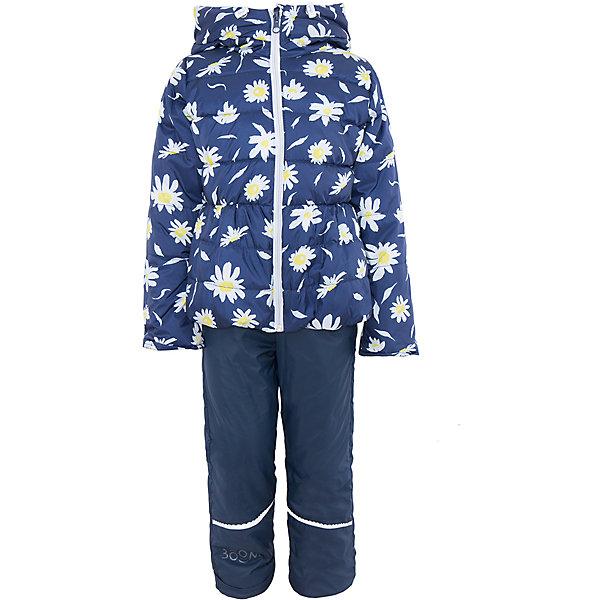 Комплект для девочки BOOM by OrbyВерхняя одежда<br>Характеристики товара:<br><br>• цвет: синий<br>• состав: <br>курточка: верх - таффета, подкладка - поликоттон, полиэстер, утеплитель: эко-синтепон 150 г/м2<br>брюки: верх - таффета, подкладка - флис<br>• комплектация: куртка, брюки<br>• температурный режим: от -5 С° до +10 С° <br>• из непромокаемой ткани, с водо и грязеотталкивающими пропитками<br>• застежка - молния<br>• благодаря манжетам-отворотам значительно регулируется размер<br>• куртка декорирована принтом<br>• комфортная посадка<br>• страна производства: Российская Федерация<br>• страна бренда: Российская Федерация<br>• коллекция: весна-лето 2017<br><br>Такой комплект - универсальный вариант для межсезонья с постоянно меняющейся погодой. Эта модель - модная и удобная одновременно! Изделие отличается стильным ярким дизайном. Куртка и брюки хорошо сидят по фигуре, отлично сочетается с различной обувью. Модель была разработана специально для детей.<br><br>Одежда от российского бренда BOOM by Orby уже завоевала популярностью у многих детей и их родителей. Вещи, выпускаемые компанией, качественные, продуманные и очень удобные. Для производства коллекций используются только безопасные для детей материалы. Спешите приобрести модели из новой коллекции Весна-лето 2017! <br><br>Комплект для девочки от бренда BOOM by Orby можно купить в нашем интернет-магазине.<br><br>Ширина мм: 356<br>Глубина мм: 10<br>Высота мм: 245<br>Вес г: 519<br>Цвет: синий<br>Возраст от месяцев: 18<br>Возраст до месяцев: 24<br>Пол: Женский<br>Возраст: Детский<br>Размер: 116,110,98,86,92,104,122<br>SKU: 5343630