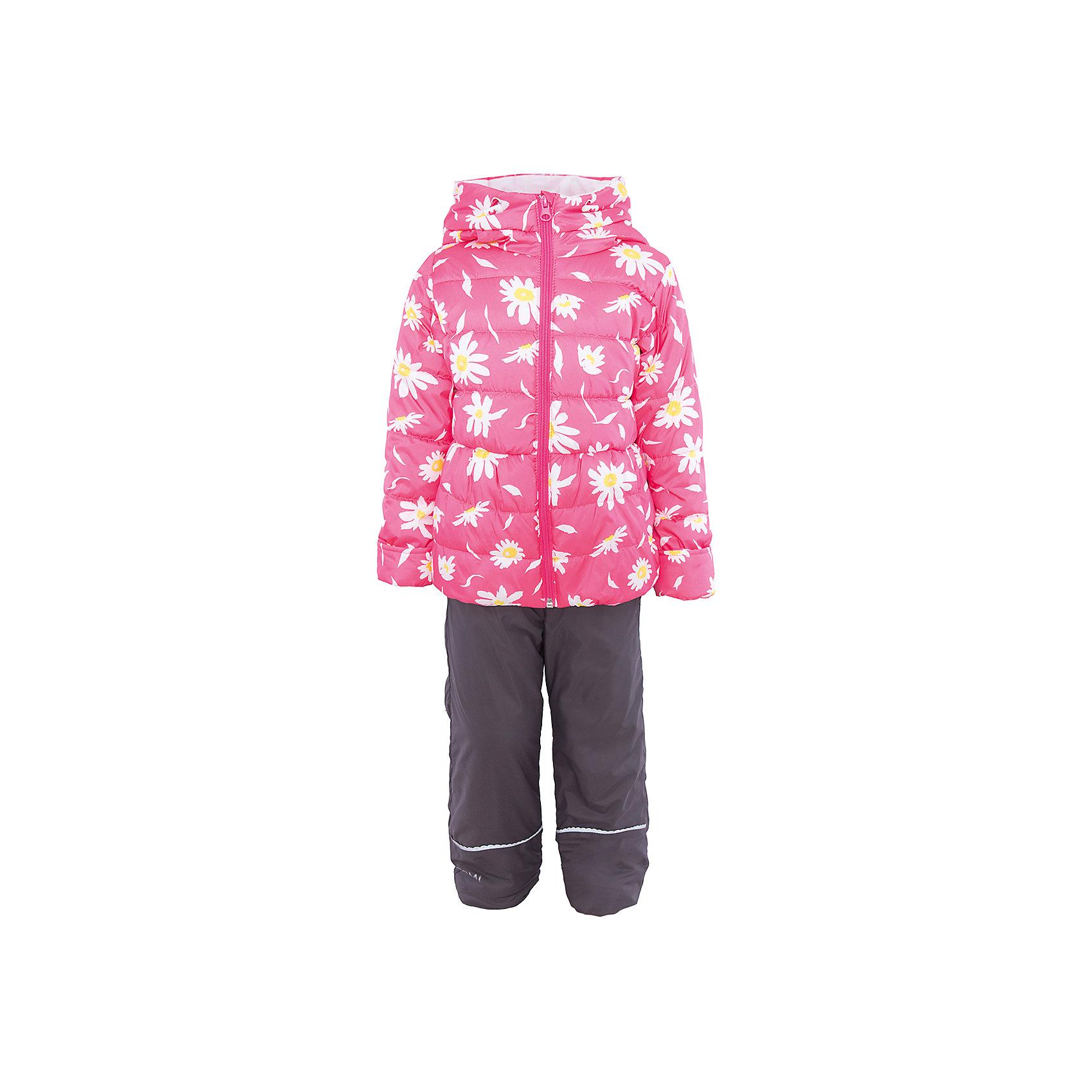 Комплект для девочки BOOM by OrbyВерхняя одежда<br>Характеристики товара:<br><br>• цвет: розовый/серый<br>• состав: <br>курточка: верх - таффета, подкладка - поликоттон, полиэстер, утеплитель: эко-синтепон 150 г/м2<br>брюки: верх - таффета, подкладка - флис<br>• комплектация: куртка, брюки<br>• температурный режим: от -5 С° до +10 С° <br>• из непромокаемой ткани, с водо и грязеотталкивающими пропитками<br>• застежка - молния<br>• благодаря манжетам-отворотам значительно регулируется размер<br>• куртка декорирована принтом<br>• комфортная посадка<br>• страна производства: Российская Федерация<br>• страна бренда: Российская Федерация<br>• коллекция: весна-лето 2017<br><br>Такой комплект - универсальный вариант для межсезонья с постоянно меняющейся погодой. Эта модель - модная и удобная одновременно! Изделие отличается стильным ярким дизайном. Куртка и брюки хорошо сидят по фигуре, отлично сочетается с различной обувью. Модель была разработана специально для детей.<br><br>Одежда от российского бренда BOOM by Orby уже завоевала популярностью у многих детей и их родителей. Вещи, выпускаемые компанией, качественные, продуманные и очень удобные. Для производства коллекций используются только безопасные для детей материалы. Спешите приобрести модели из новой коллекции Весна-лето 2017! <br><br>Комплект для девочки от бренда BOOM by Orby можно купить в нашем интернет-магазине.<br><br>Ширина мм: 356<br>Глубина мм: 10<br>Высота мм: 245<br>Вес г: 519<br>Цвет: розовый<br>Возраст от месяцев: 12<br>Возраст до месяцев: 18<br>Пол: Женский<br>Возраст: Детский<br>Размер: 86,122,104,92,98,110,116<br>SKU: 5343646