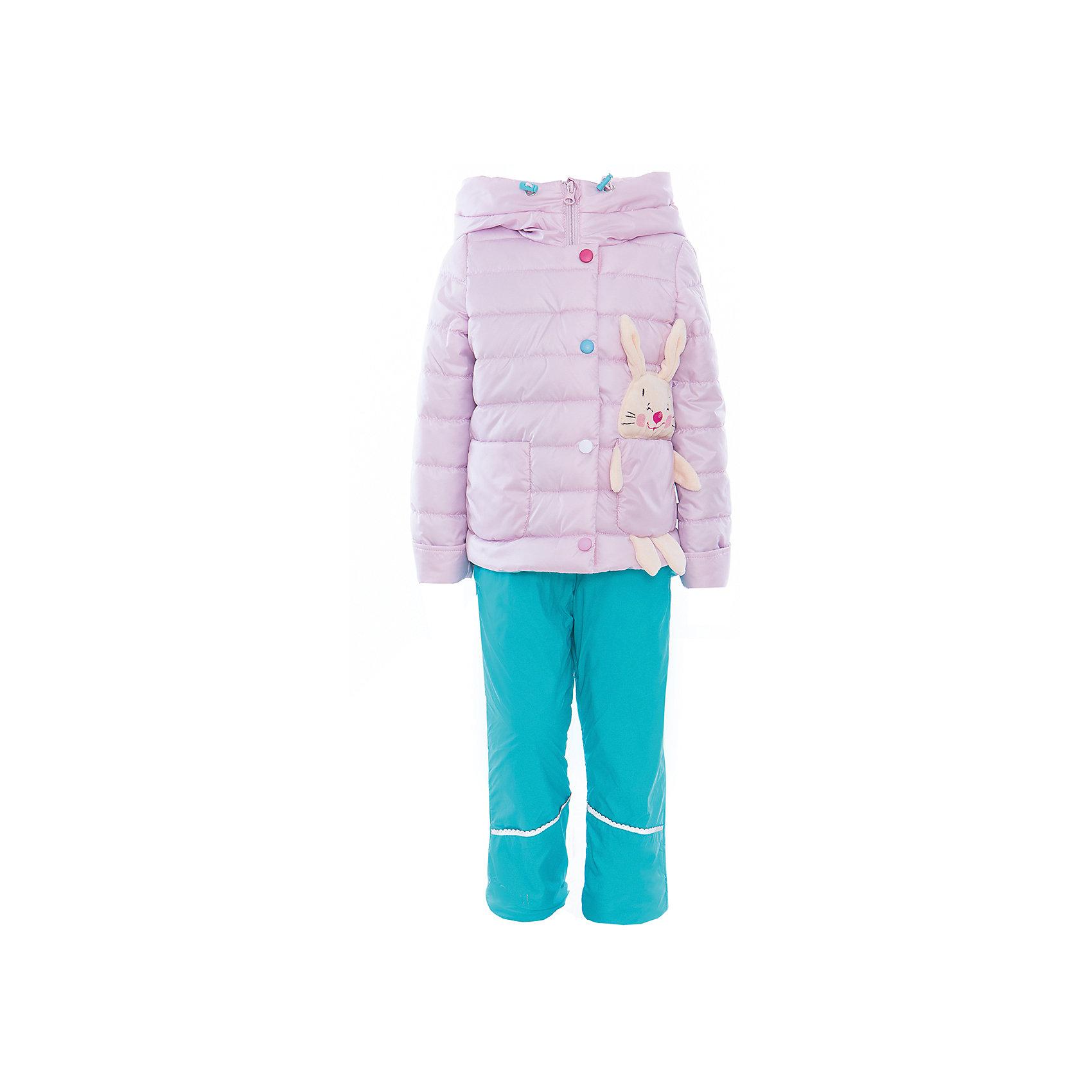 Комплект для девочки BOOM by OrbyВерхняя одежда<br>Характеристики товара:<br><br>• цвет: розовый/бирюзовый<br>• состав: <br>курточка: верх - таффета, подкладка - поликоттон, полиэстер, утеплитель: эко-синтепон 150 г/м2<br>брюки: верх - таффета, подкладка - флис<br>• комплектация: куртка, брюки<br>• температурный режим: от -5 С° до +10 С° <br>• из прочной ткани<br>• застежка - молния<br>• благодаря манжетам-отворотам значительно регулируется размер<br>• оригинальный декор<br>• карманы<br>• комфортная посадка<br>• страна производства: Российская Федерация<br>• страна бренда: Российская Федерация<br>• коллекция: весна-лето 2017<br><br>Такой комплект - универсальный вариант для межсезонья с постоянно меняющейся погодой. Эта модель - модная и удобная одновременно! Изделие отличается стильным ярким дизайном. Куртка и брюки хорошо сидят по фигуре, отлично сочетается с различной обувью. Модель была разработана специально для детей.<br><br>Одежда от российского бренда BOOM by Orby уже завоевала популярностью у многих детей и их родителей. Вещи, выпускаемые компанией, качественные, продуманные и очень удобные. Для производства коллекций используются только безопасные для детей материалы. Спешите приобрести модели из новой коллекции Весна-лето 2017! <br><br>Комплект для девочки от бренда BOOM by Orby можно купить в нашем интернет-магазине.<br><br>Ширина мм: 356<br>Глубина мм: 10<br>Высота мм: 245<br>Вес г: 519<br>Цвет: розовый<br>Возраст от месяцев: 12<br>Возраст до месяцев: 18<br>Пол: Женский<br>Возраст: Детский<br>Размер: 122,104,86,92,110,98,116<br>SKU: 5343662