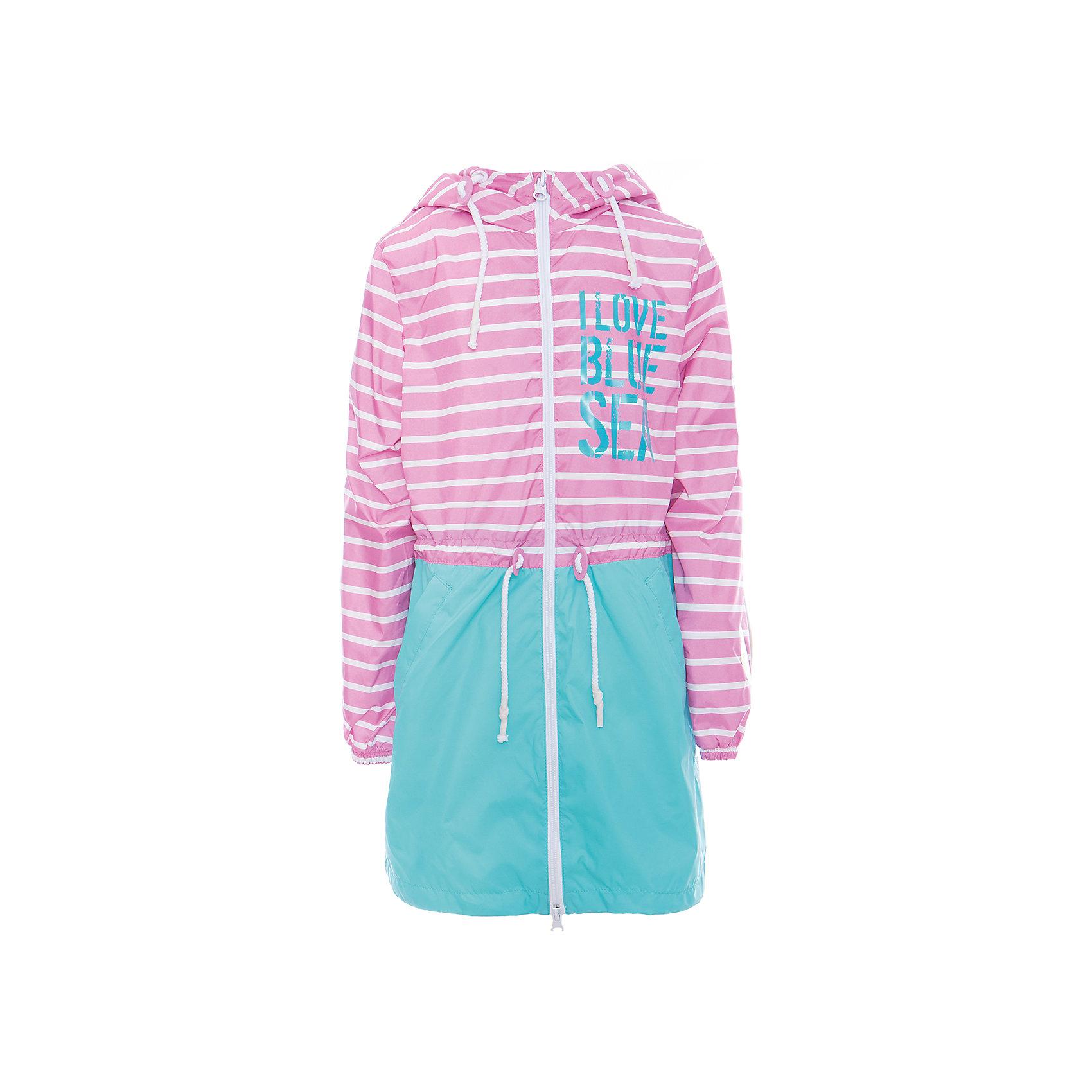 Плащ для девочки BOOM by OrbyВесенняя капель<br>Характеристики товара:<br><br>• цвет: розовый/бирюзовый<br>• состав: верх - таффета, подкладка - полиэстер, флис, без утеплителя<br>• температурный режим: от +7°до +15°С<br>• демисезон<br>• капюшон<br>• застежка - молния<br>• декорирован принт<br>• утяжка в капюшоне<br>• шнурок в поясе<br>• комфортная посадка<br>• страна производства: Российская Федерация<br>• страна бренда: Российская Федерация<br>• коллекция: весна-лето 2017<br><br>Такой плащ - универсальный вариант для теплого межсезонья с постоянно меняющейся погодой. Эта модель - модная и удобная одновременно! Изделие отличается стильным ярким дизайном. Плащ хорошо сидит по фигуре, отлично сочетается с различным низом. Вещь была разработана специально для детей.<br><br>Одежда от российского бренда BOOM by Orby уже завоевала популярностью у многих детей и их родителей. Вещи, выпускаемые компанией, качественные, продуманные и очень удобные. Для производства коллекций используются только безопасные для детей материалы. Спешите приобрести модели из новой коллекции Весна-лето 2017!<br><br>Плащ для девочки от бренда BOOM by Orby можно купить в нашем интернет-магазине.<br><br>Ширина мм: 356<br>Глубина мм: 10<br>Высота мм: 245<br>Вес г: 519<br>Цвет: розовый<br>Возраст от месяцев: 108<br>Возраст до месяцев: 120<br>Пол: Женский<br>Возраст: Детский<br>Размер: 140,116,122,104,128,134,110,146,92,152,158,98<br>SKU: 5343877